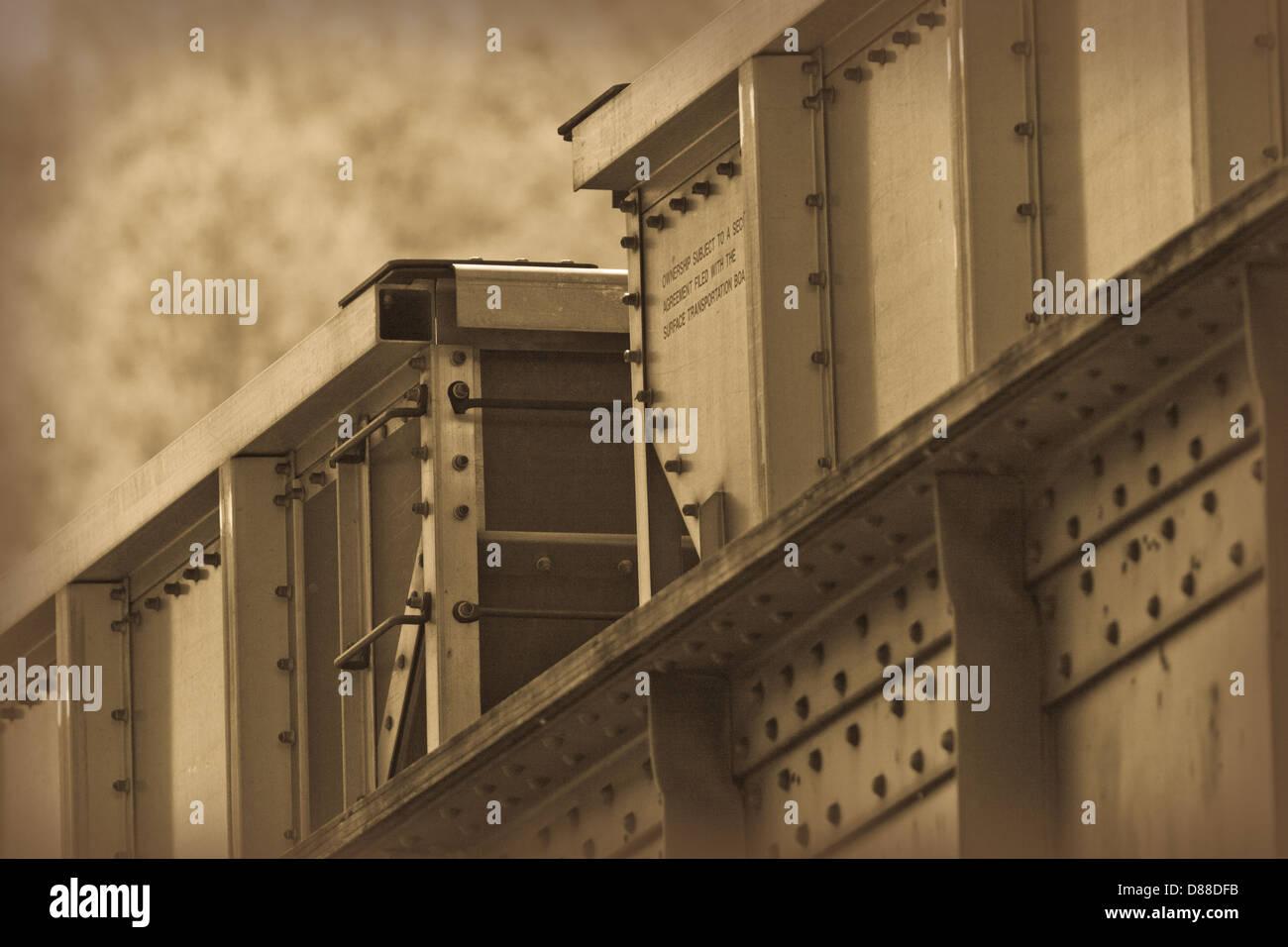 Sépia wagon train Photo Stock