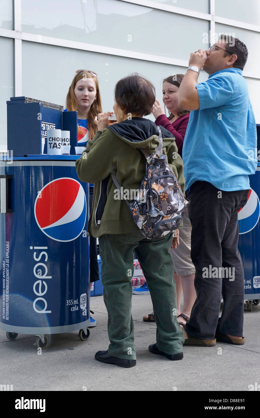 Goût Pepsi Challenge Photo Stock
