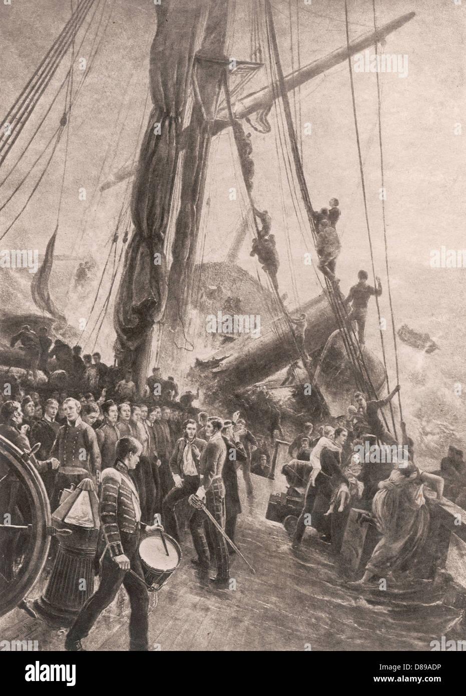 Birkenhead Wrecked B+w Photo Stock