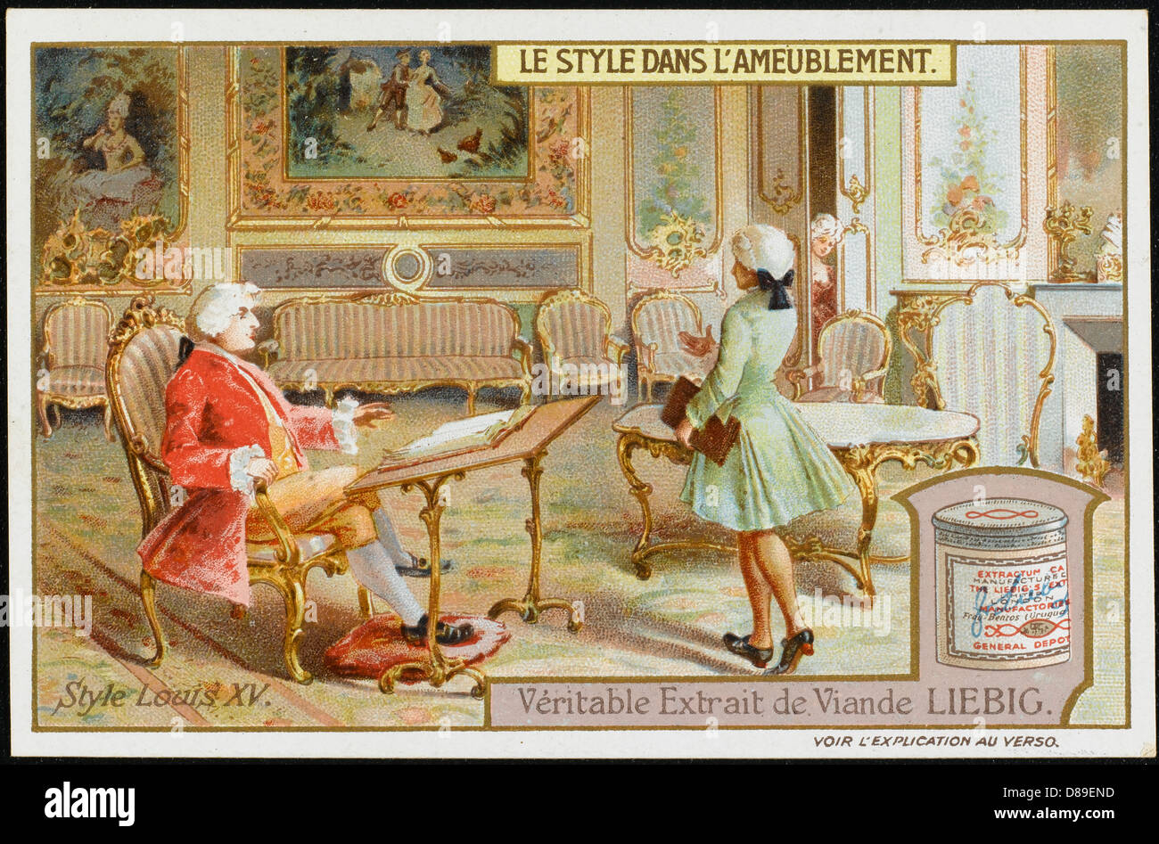 chambre de style louis xv banque d'images, photo stock: 56757497 - alamy