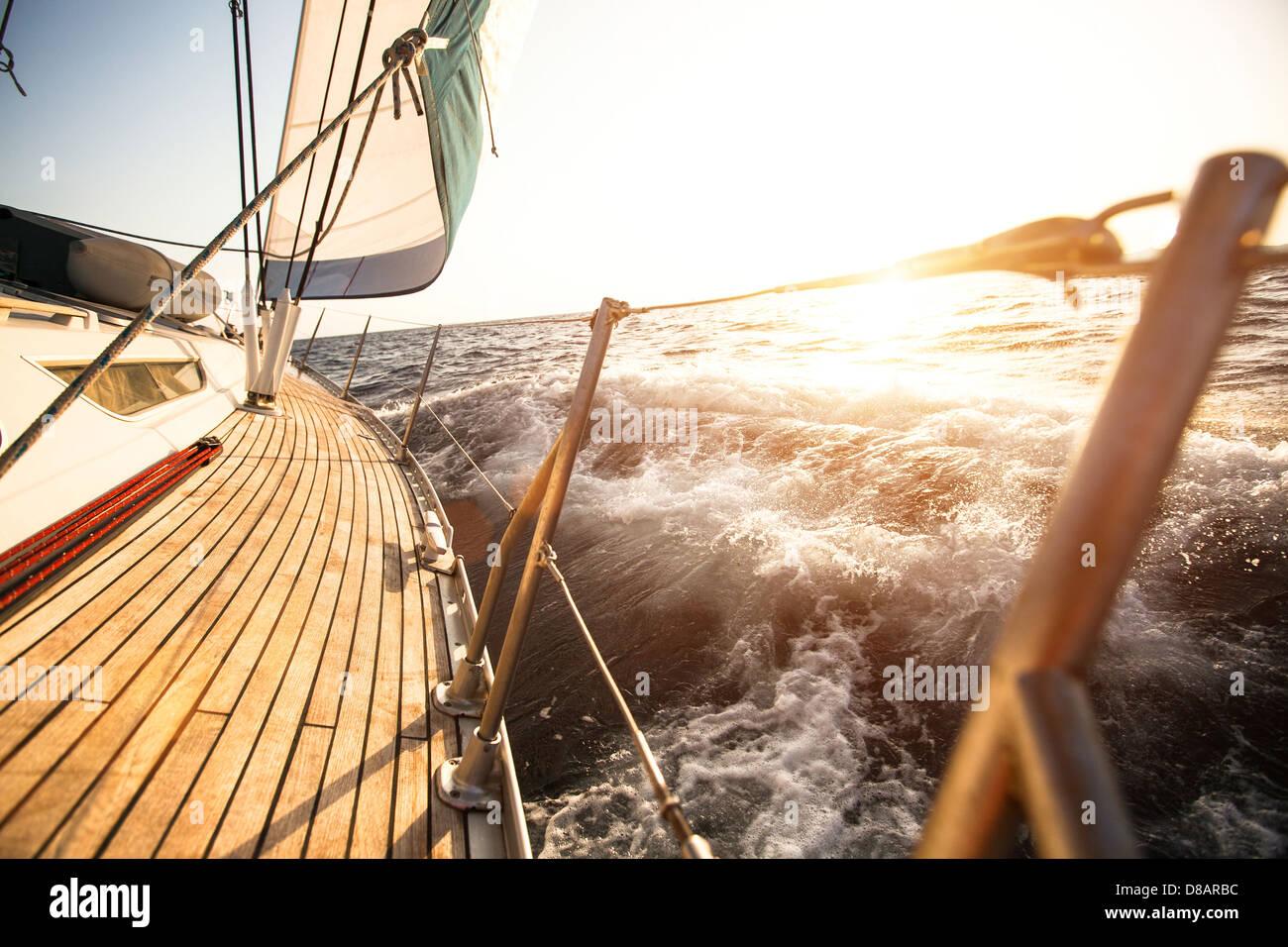 Régate de voile en mer Egée Photo Stock
