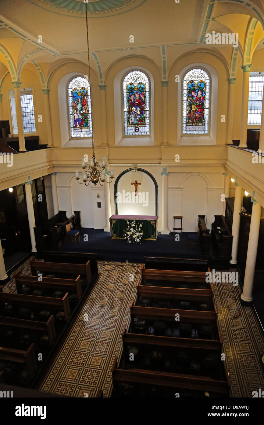 Southwark London Angleterre 18e siècle Guy's Chapel l'Autel Photo Stock