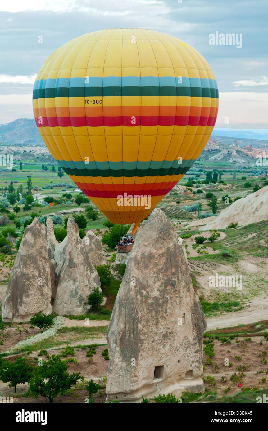 La montgolfière, Cappodocia, Turquie Banque D'Images