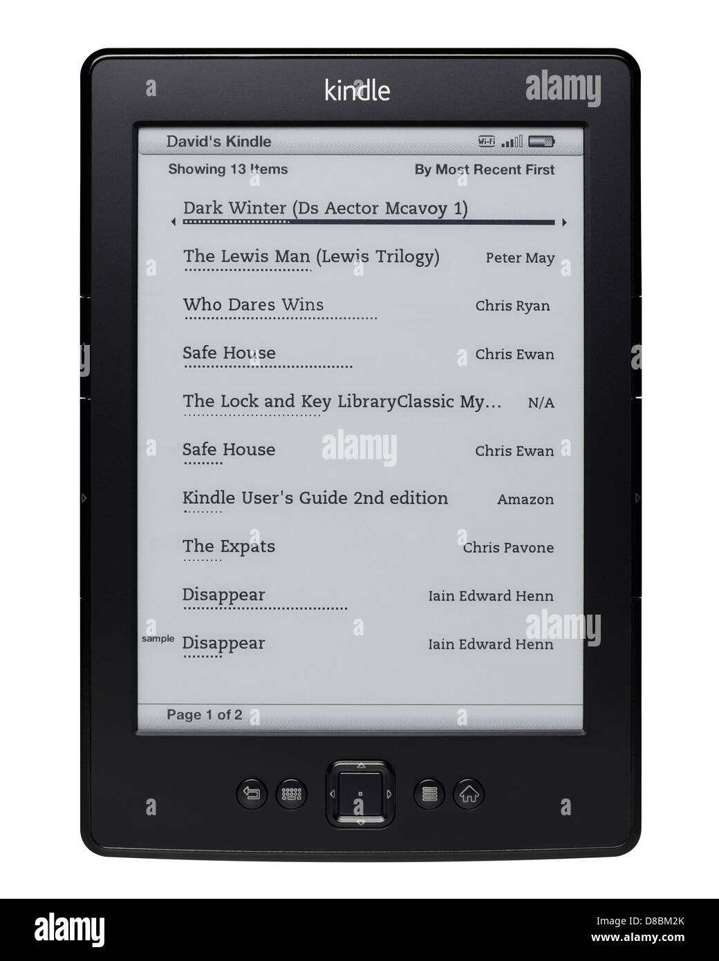 E Ink Kindle Lecture eReader Device Photo Stock