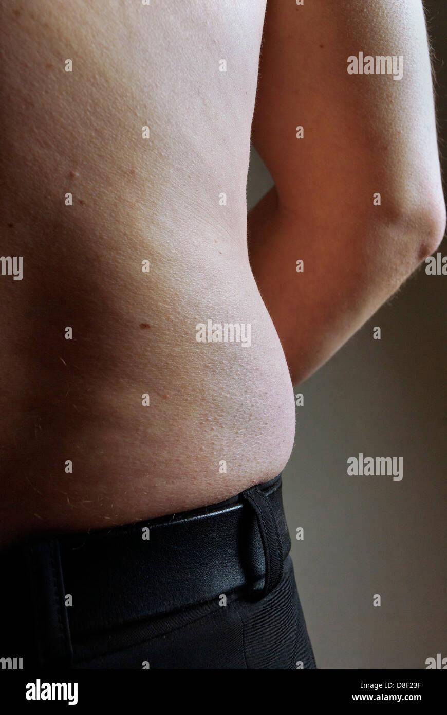 Avec la forme du corps de l'homme malsain Photo Stock