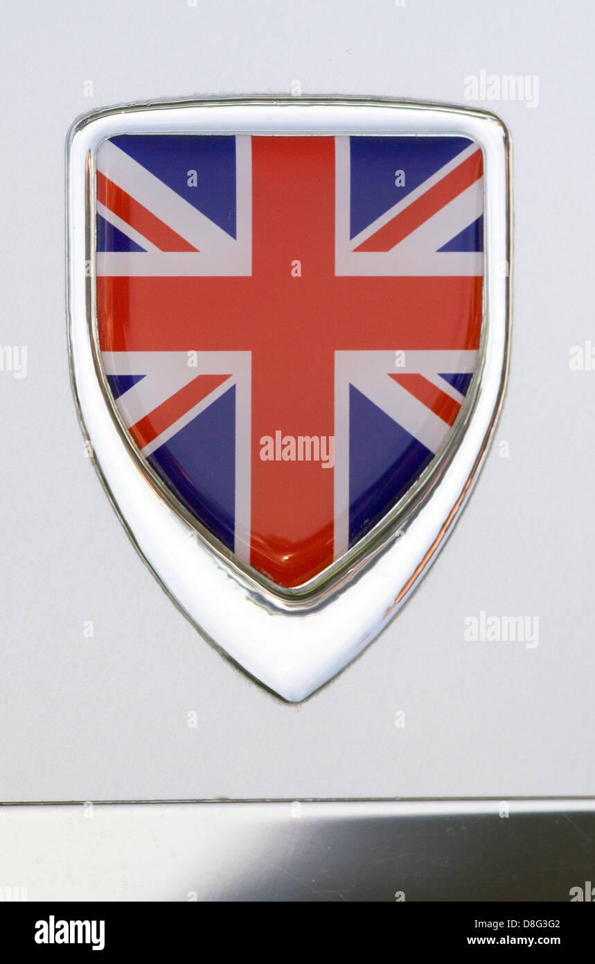 Union jack drapeau uk royaume-uni voiture badge metal chrome gb angleterre jaguar mg