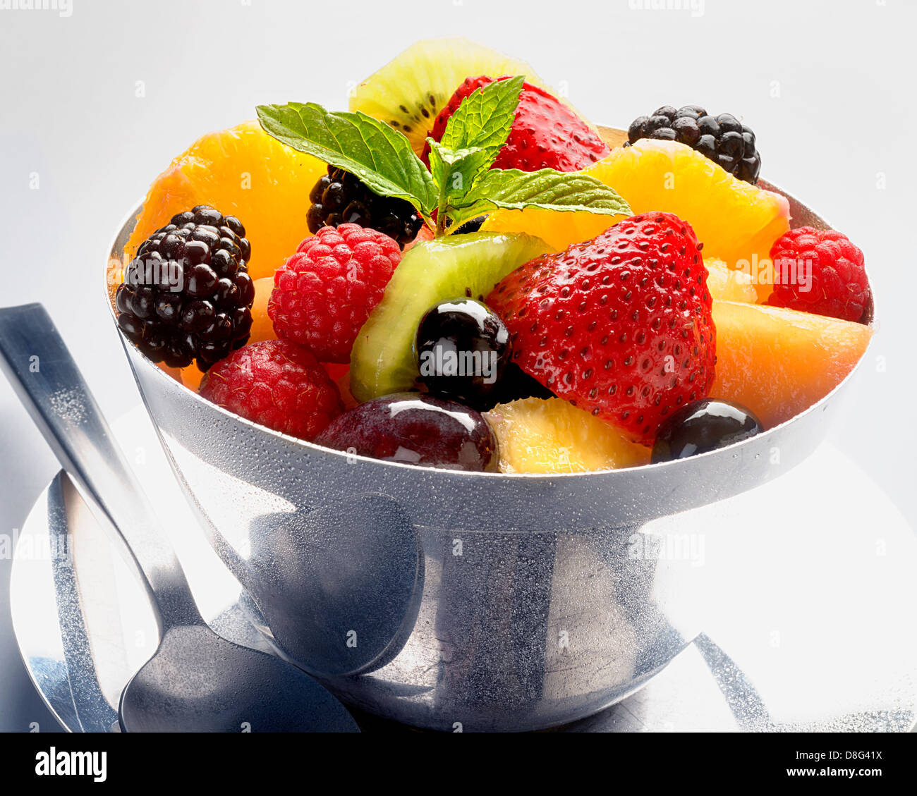 fruits dans le plat Photo Stock