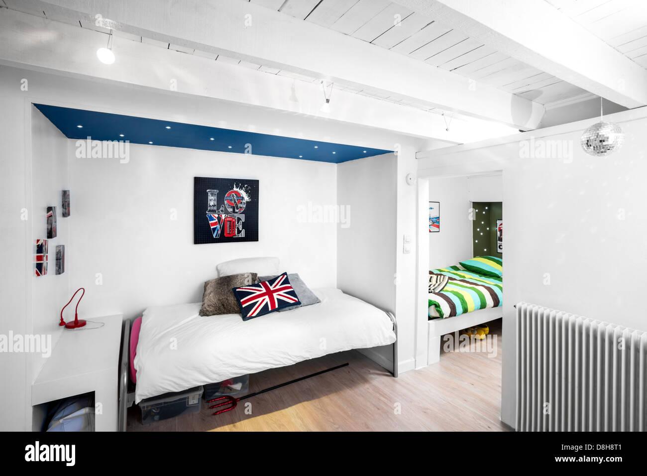 Une petite chambre d'enfants (Royaume-Uni). Petite chambre d'enfants (Royaume-Uni). Photo Stock