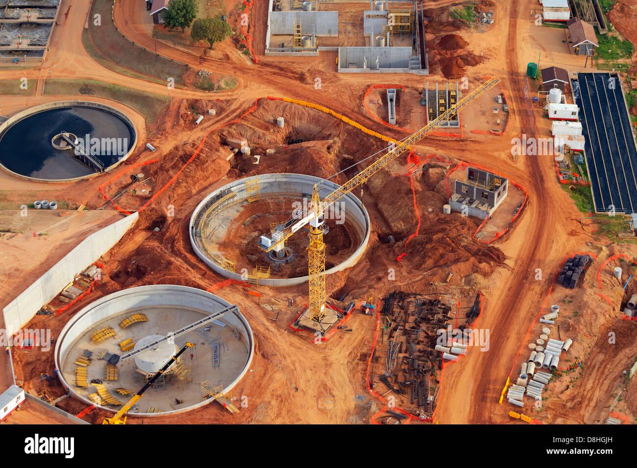 Vue aérienne du développement industriel.Johannesburg Afrique du Sud. Photo Stock