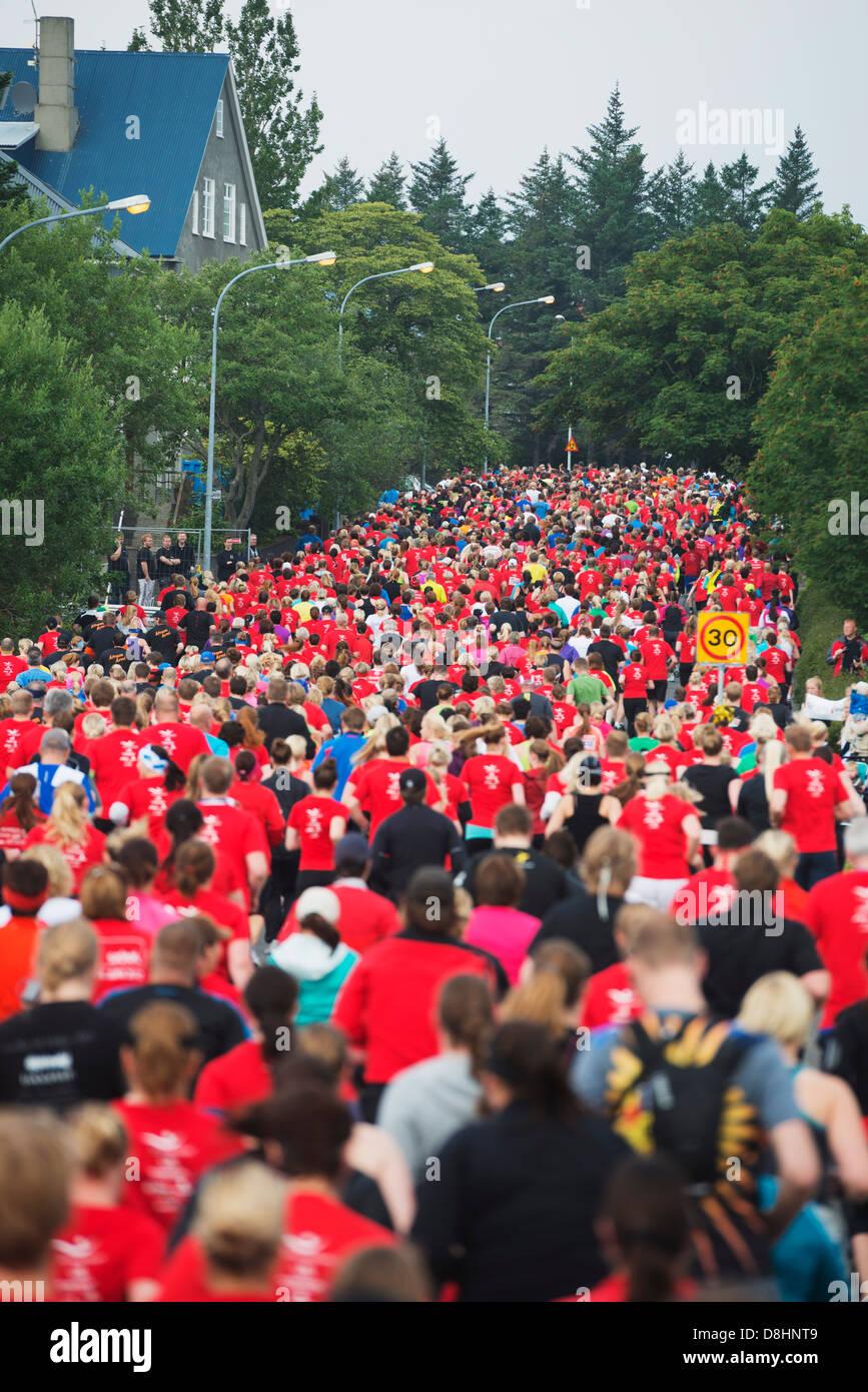 L'Islande, Reykjavik, Reykjavik Marathon 2012 Banque D'Images