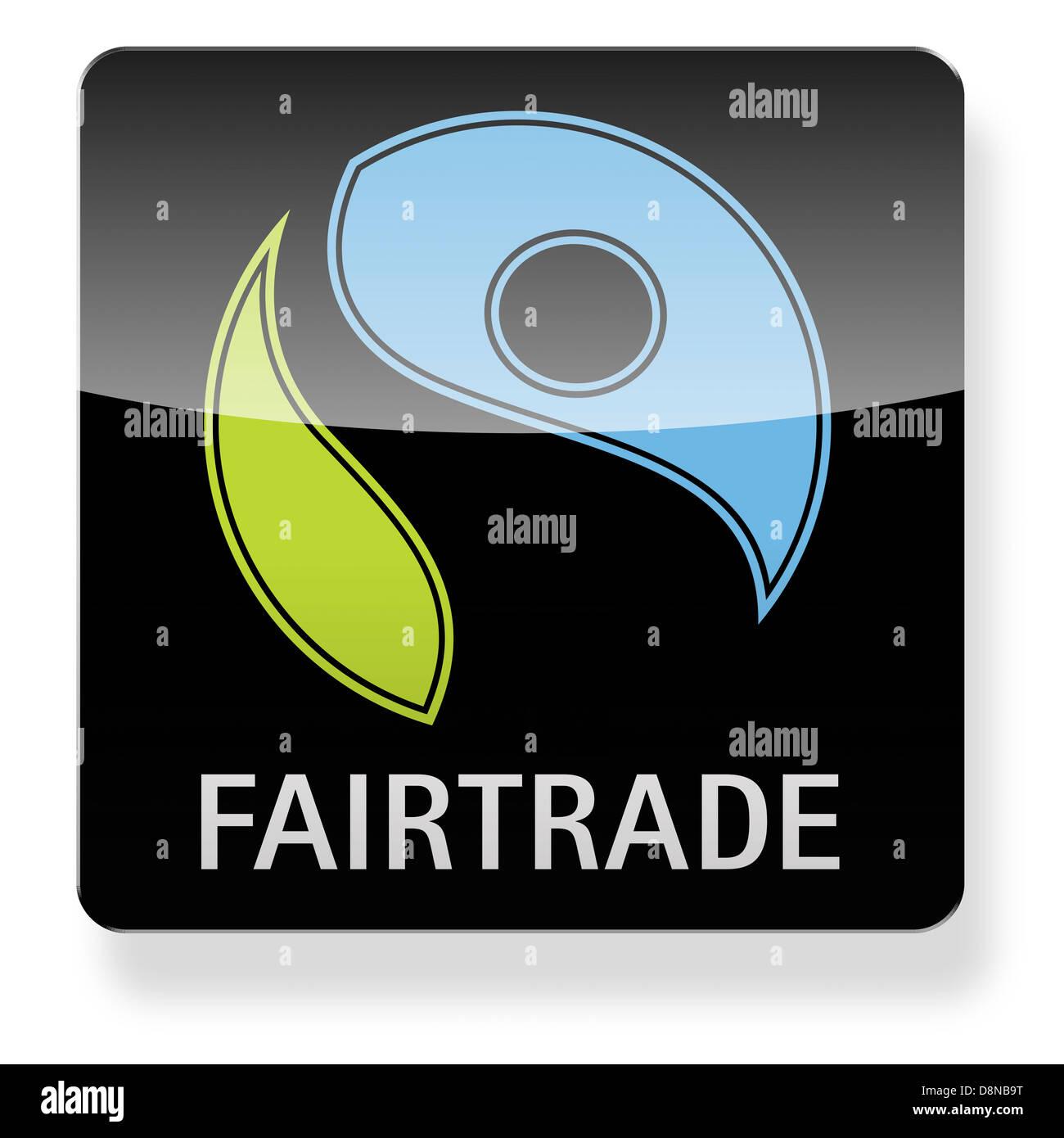 044ef6c05028e1 Logo du commerce équitable comme une icône de l application. Chemin de  détourage inclus