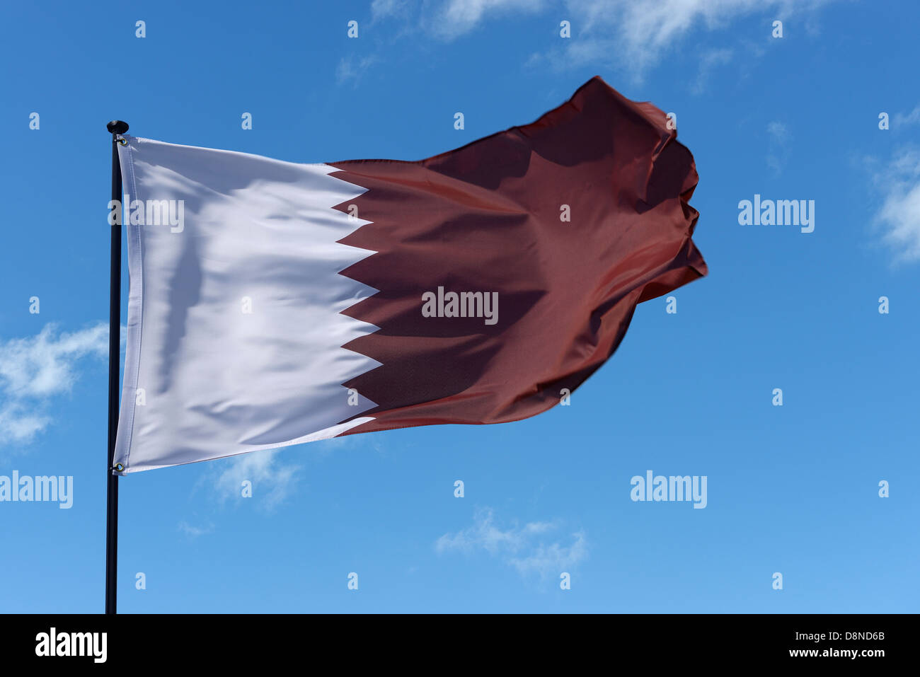 Drapeau national de l'État du Qatar Photo Stock