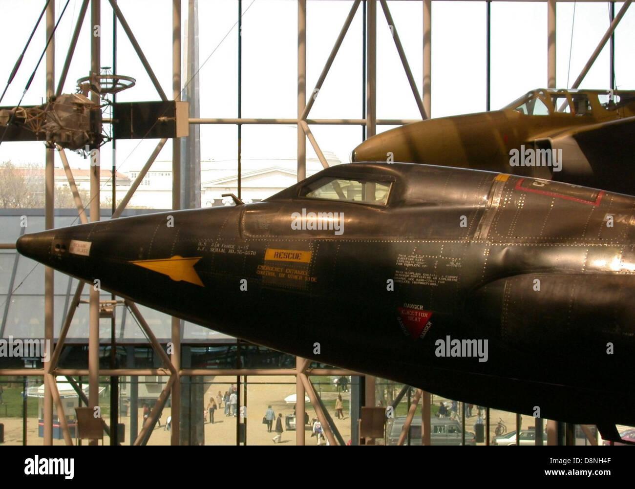 Avion fusée X 15. Photo Stock