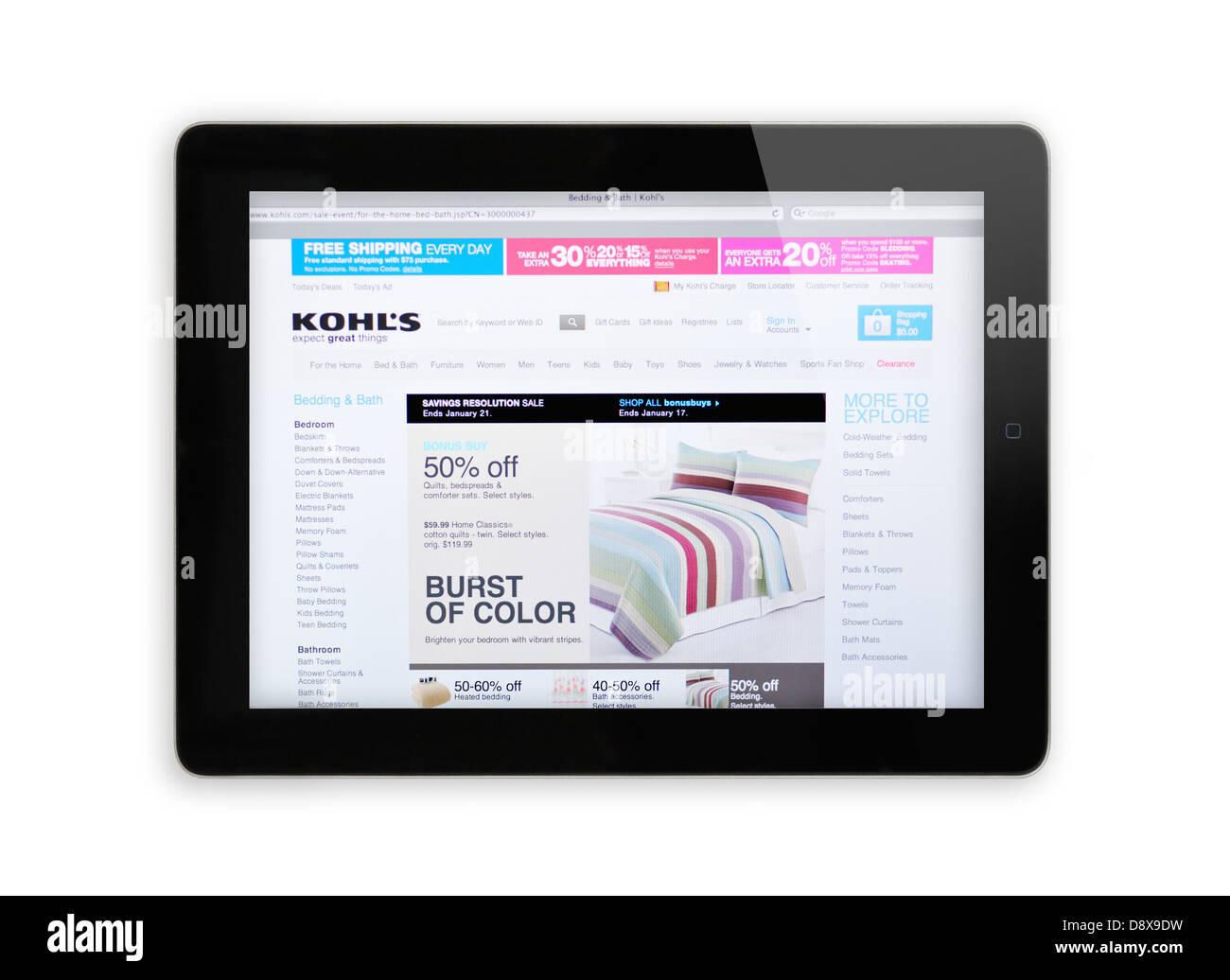 Kohl's boutique en ligne site sur iPad Photo Stock