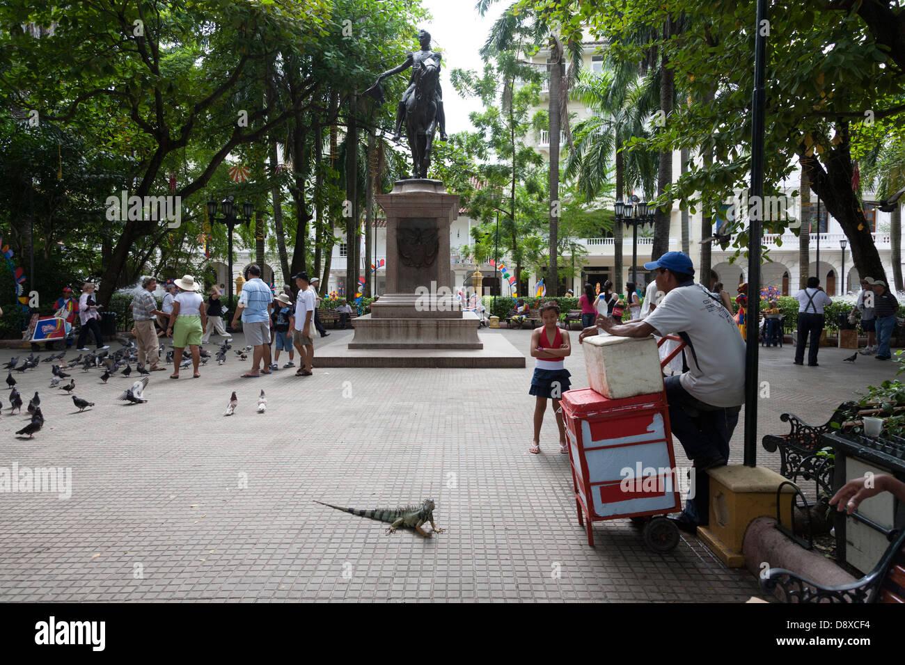 Plaza de Bolivar, Carthagène, Colombie Photo Stock