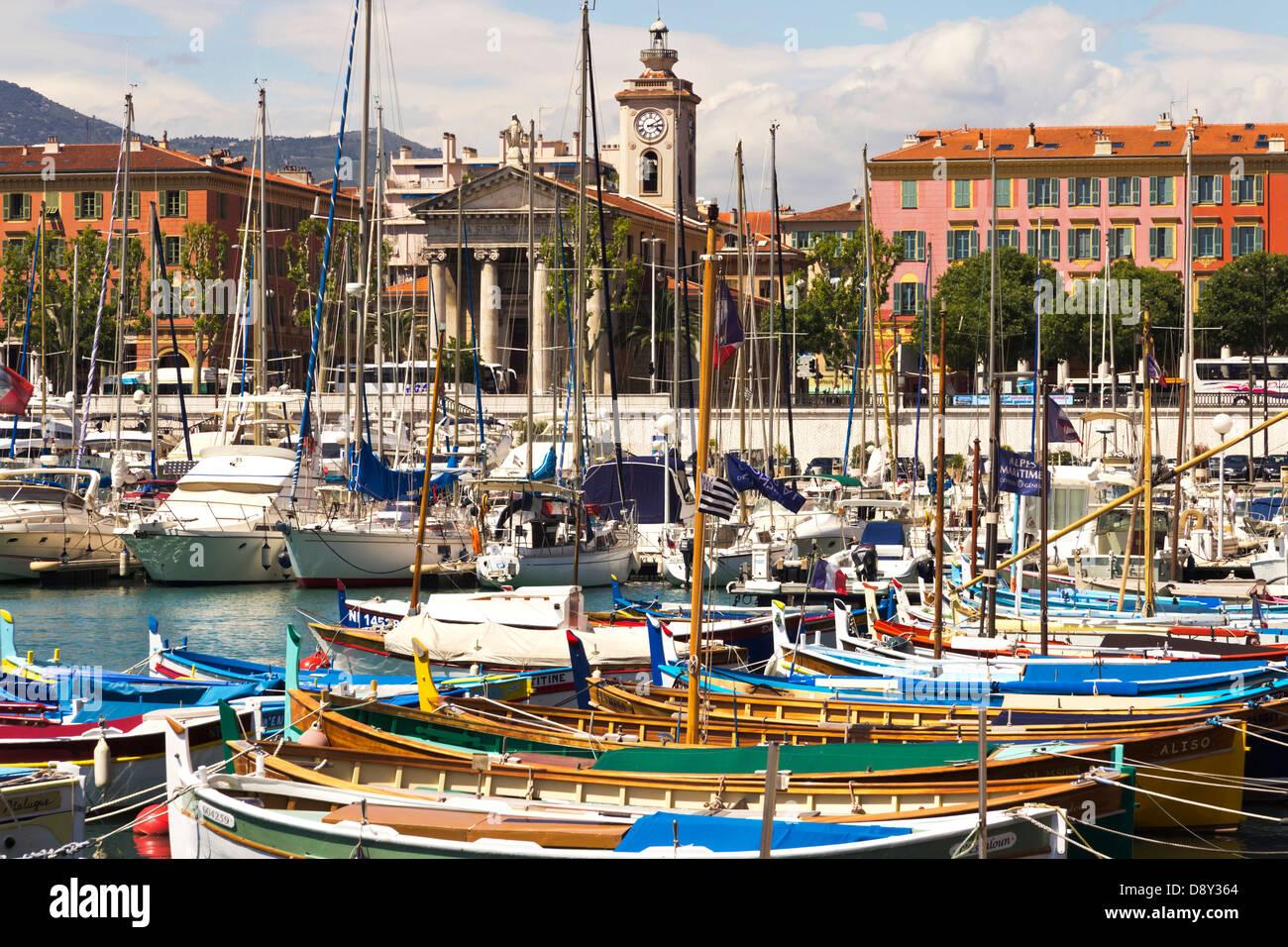Port de Nice Côte d'Azur Provence France Photo Stock
