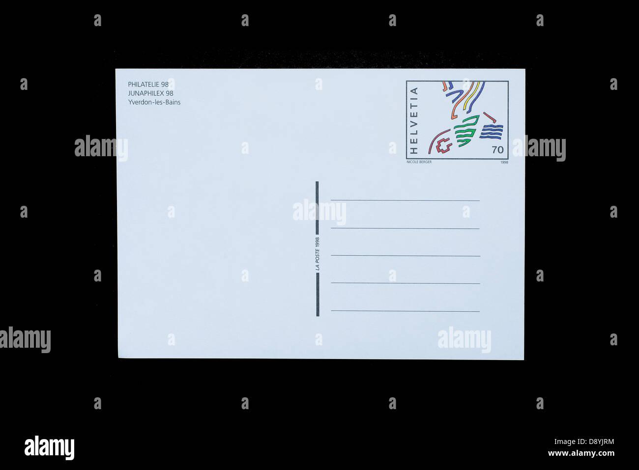 Une carte de la poste Photo Stock