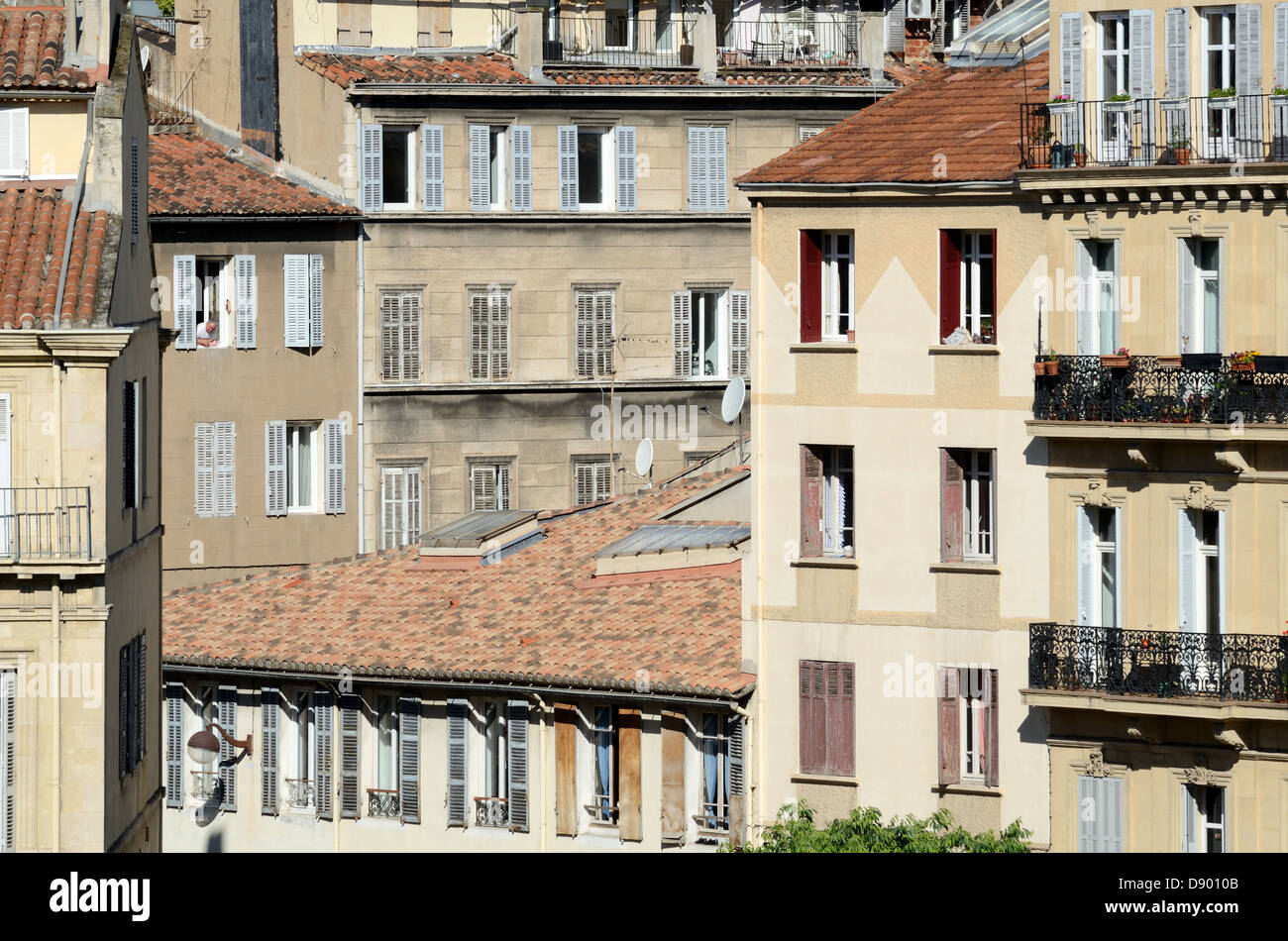 Appartements période ou l'Architecture Longchamp Marseille France Photo Stock