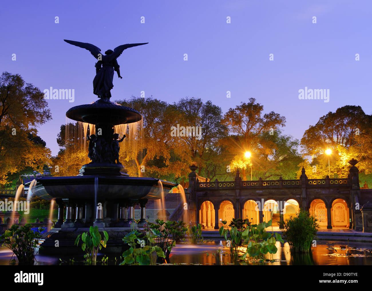Bethesda Terrace et de la fontaine de la ville de New York. Photo Stock