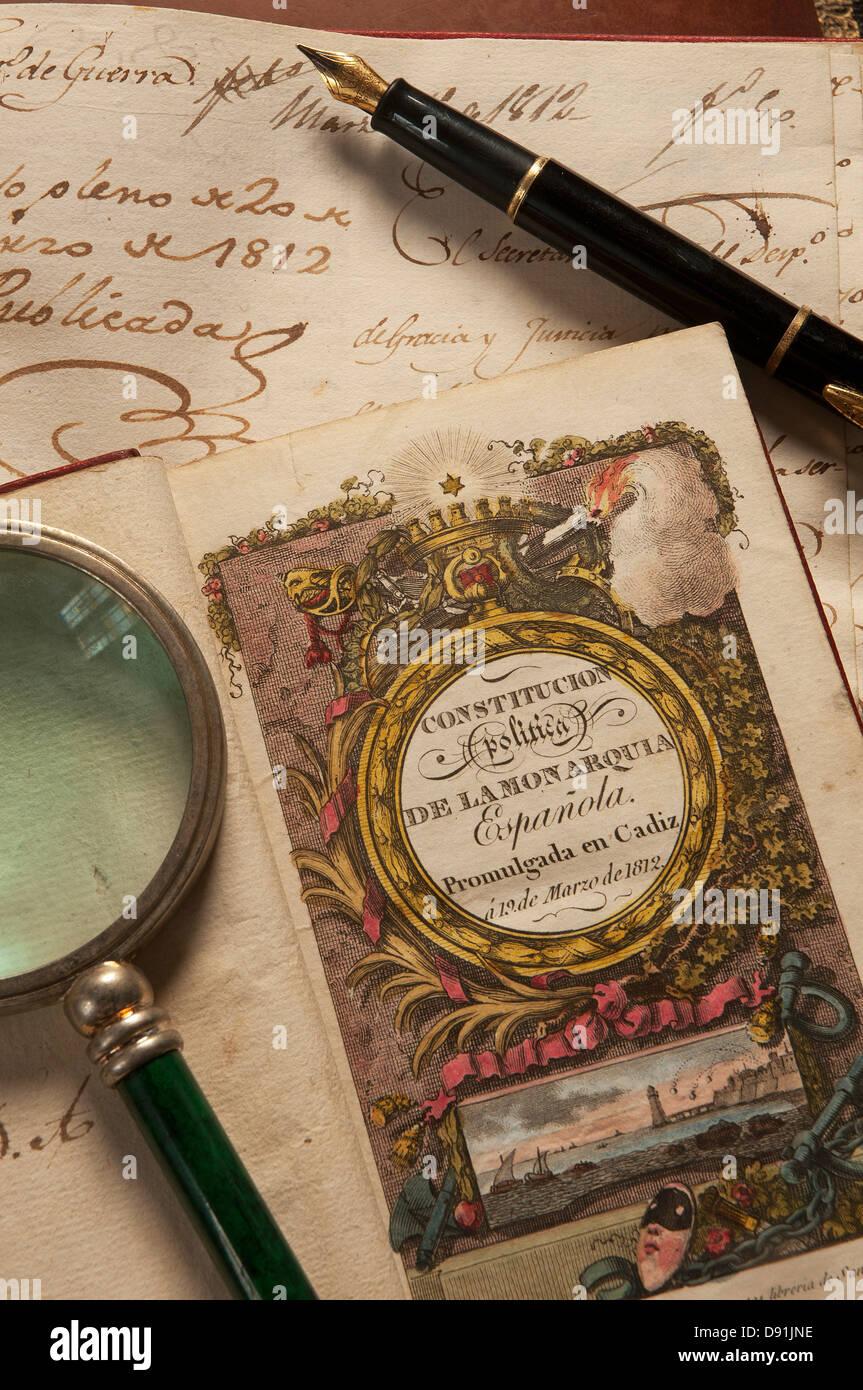 Constitution espagnole de 1812 -- La Fondation Federico Joly, Cadix, Andalousie, Espagne, Europe Banque D'Images