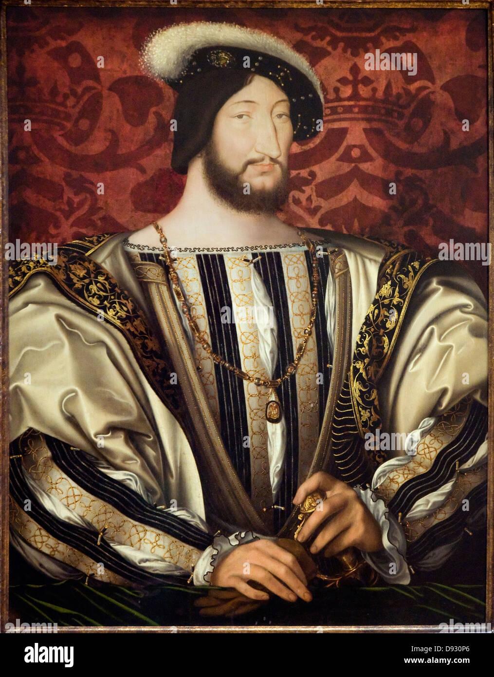 Jean Clouet François I er - Roi de France - 1530 L'école française Banque D'Images