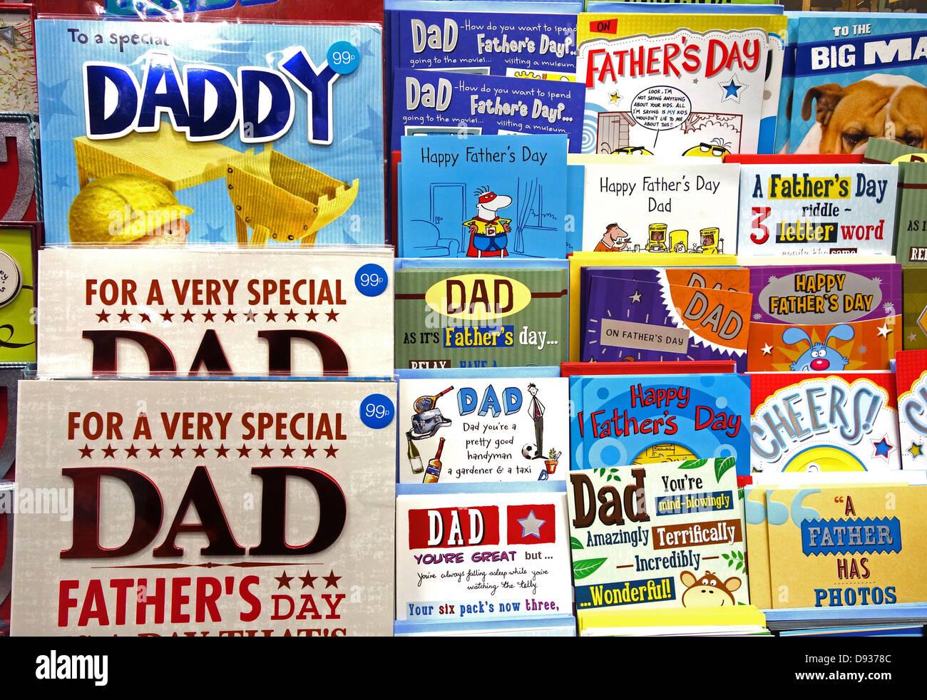 Cartes de fête des pères Photo Stock