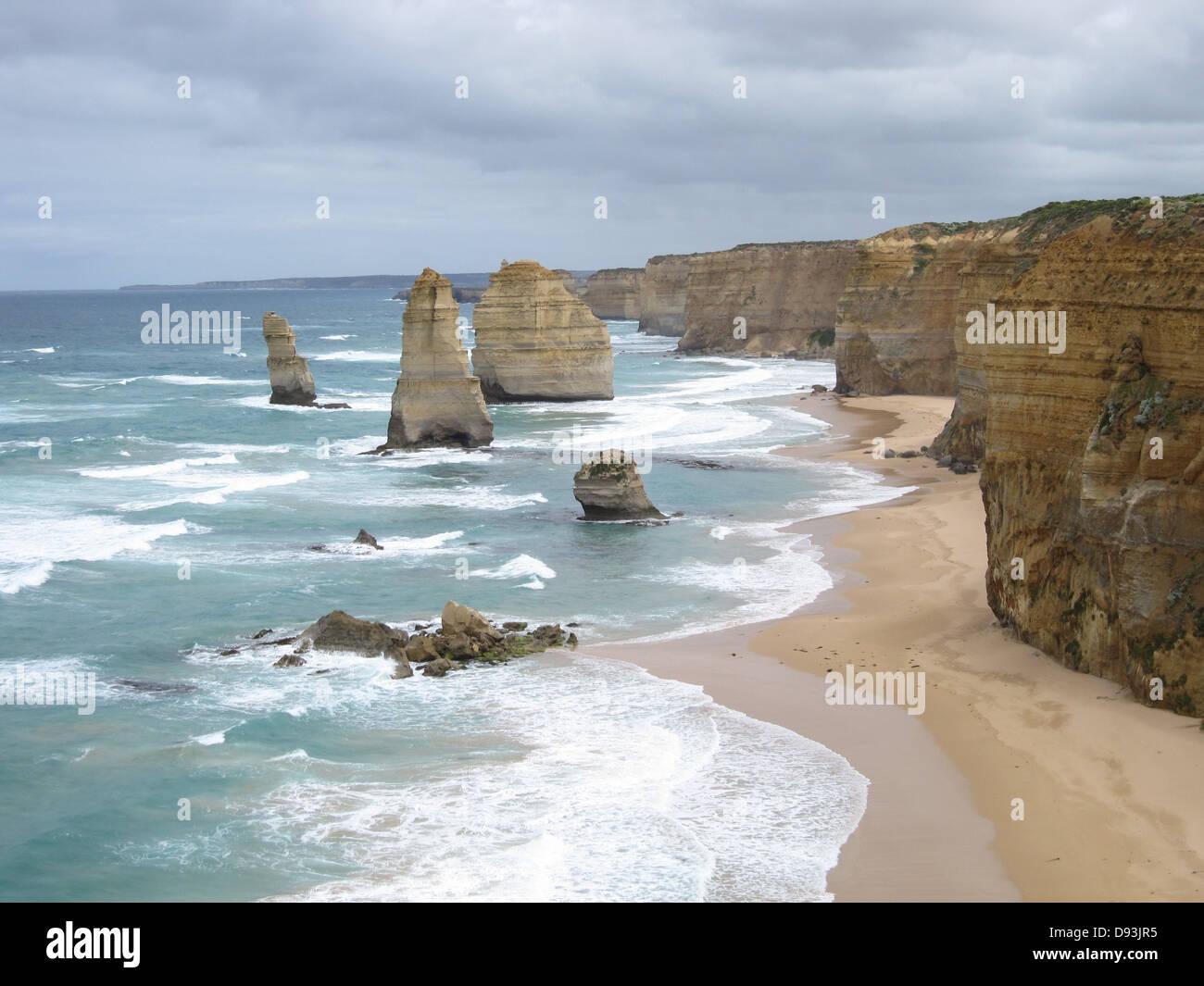 Great Ocean Road l'Australie douze apôtres Photo Stock