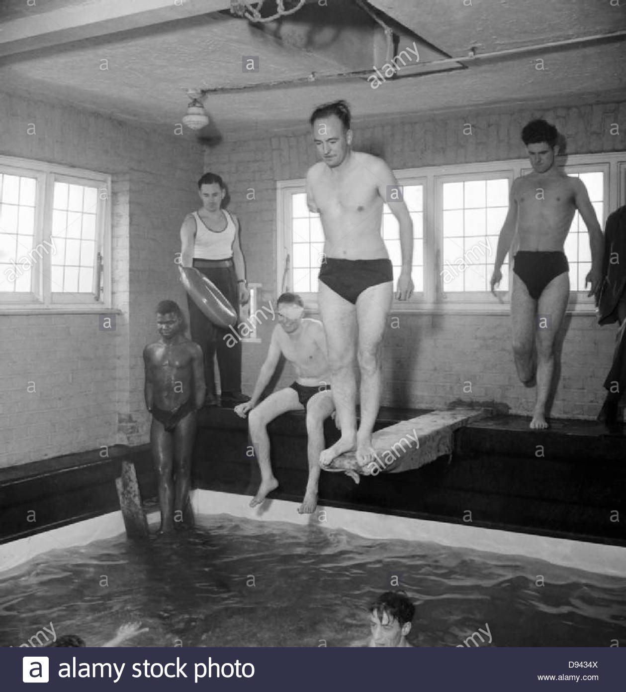 Réadaptation- le travail de l'hôpital Queen Mary, Roehampton, Londres, Angleterre, RU, 1944 D18149 Photo Stock