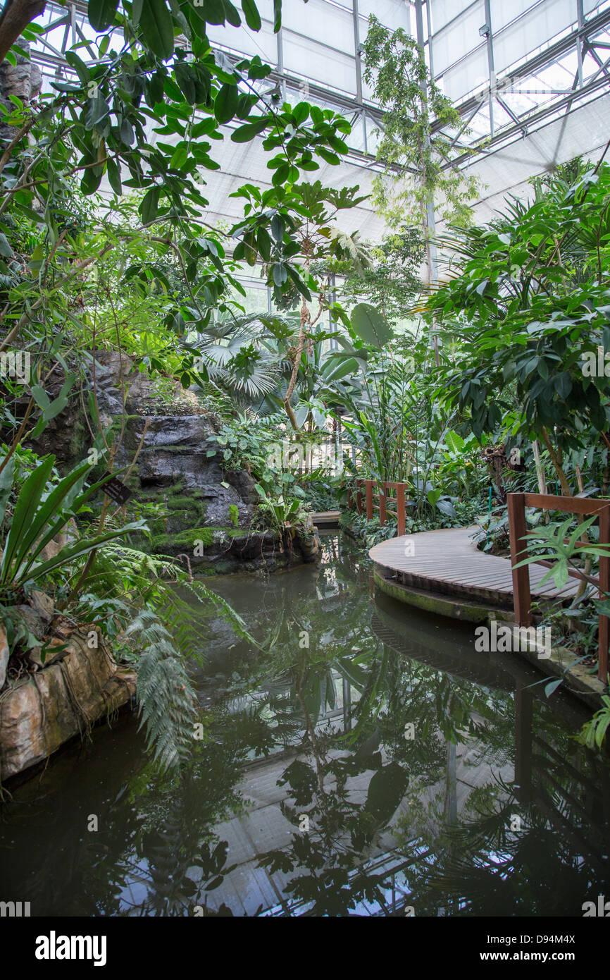 Jardin botanique de la reine Sirikit sous les auspices du Ministère thaïlandais des ressources naturelles Photo Stock