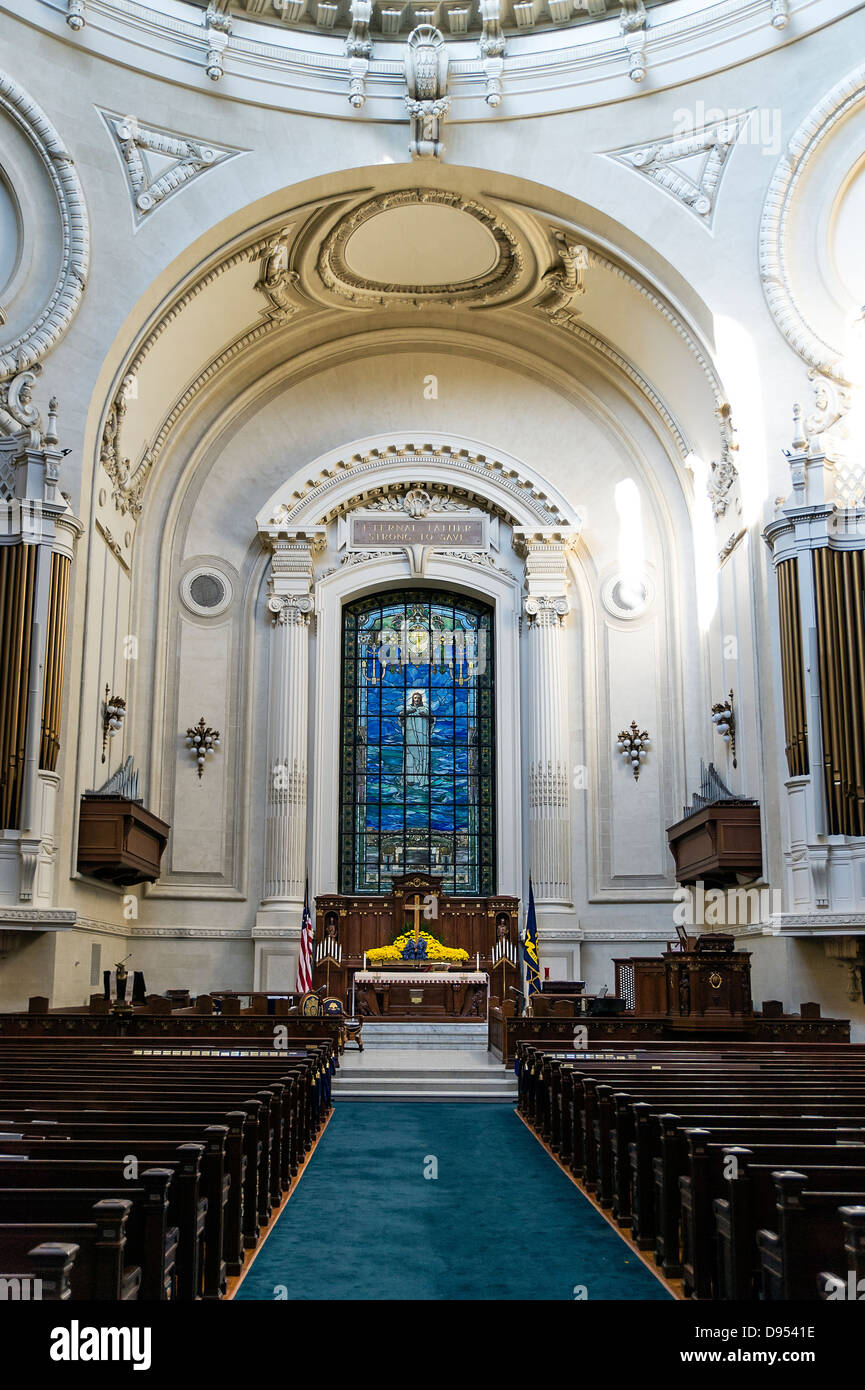 L'United States Naval Academy Chapelle, Annapolis, Maryland, USA. 1908 Photo Stock