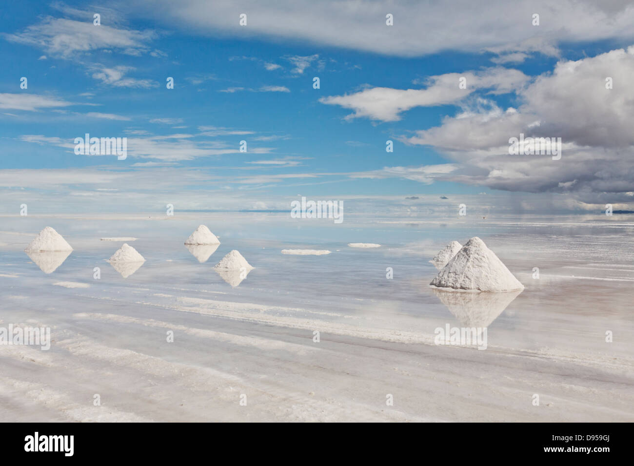 Salar de Uyuni, sel, Tours, au sud-ouest de l'Altiplano Bolivie Photo Stock