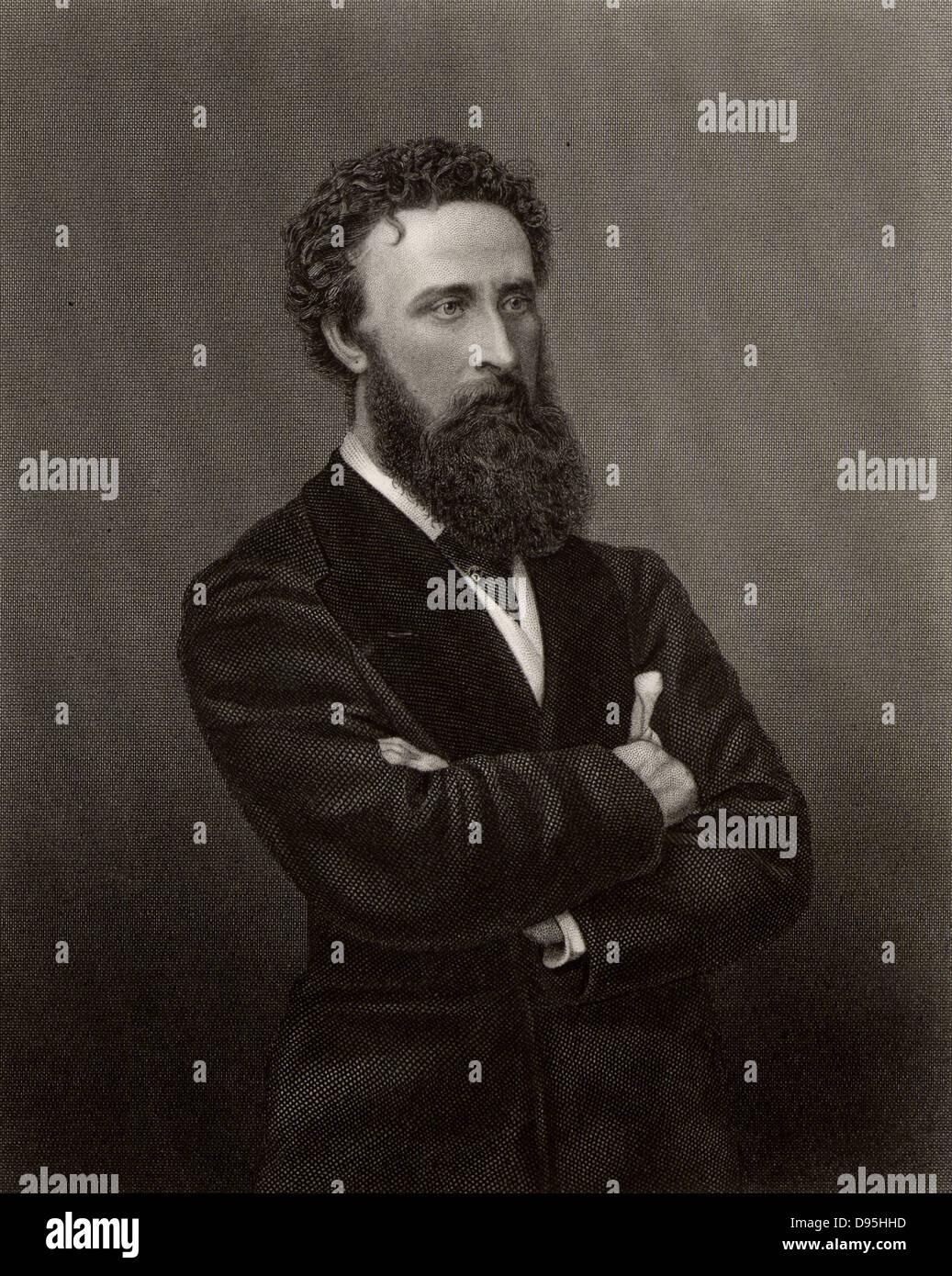 Edward Robert, premier comte de Lytton (1831-1891) Homme d'État britannique, romancier et poète. Vice-roi de l'Inde 1876-1880. Poèmes publiés sous pseudonyme Owen Meredith. Gravure c1876. Banque D'Images