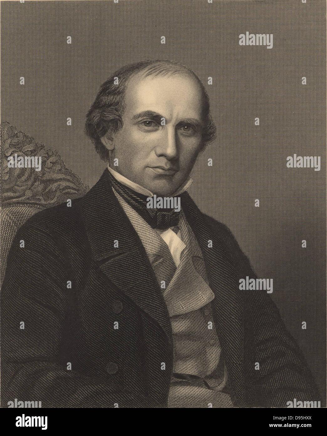"""Horsfod Eben Norton (1818-1893) chimiste américain et disciple de Liebig. Appelé """"le père de la technologie alimentaire américain'. A découvert la poudre. De James Sheridan Muspratt """"Chimie"""" (Londres, c1860). La gravure. Chercheur scientifique Banque D'Images"""