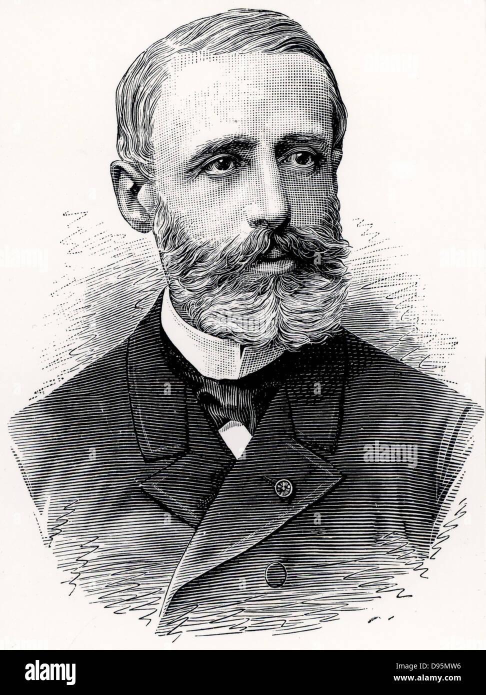 (Raymond) Gaston Plante (1834-1889) Physicien français qui en 1859 a inventé le premier accumulateur ou Photo Stock