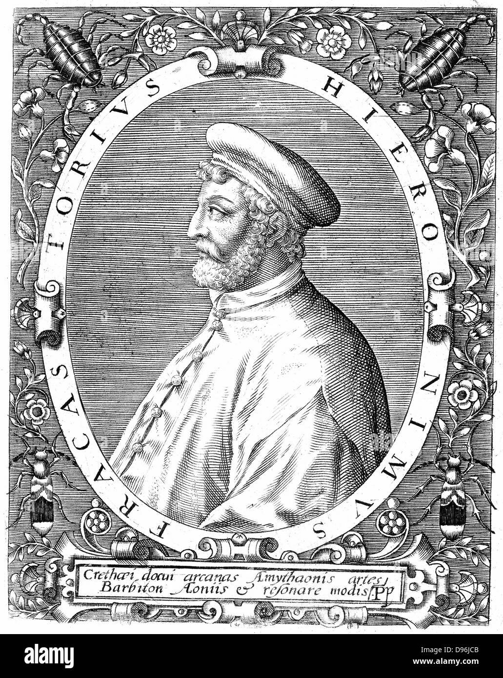 Girolamo Frascatoro Fracastorius (Hieronymus) c1478-1553. Médecin italien, poète et astronome. Théorie Photo Stock