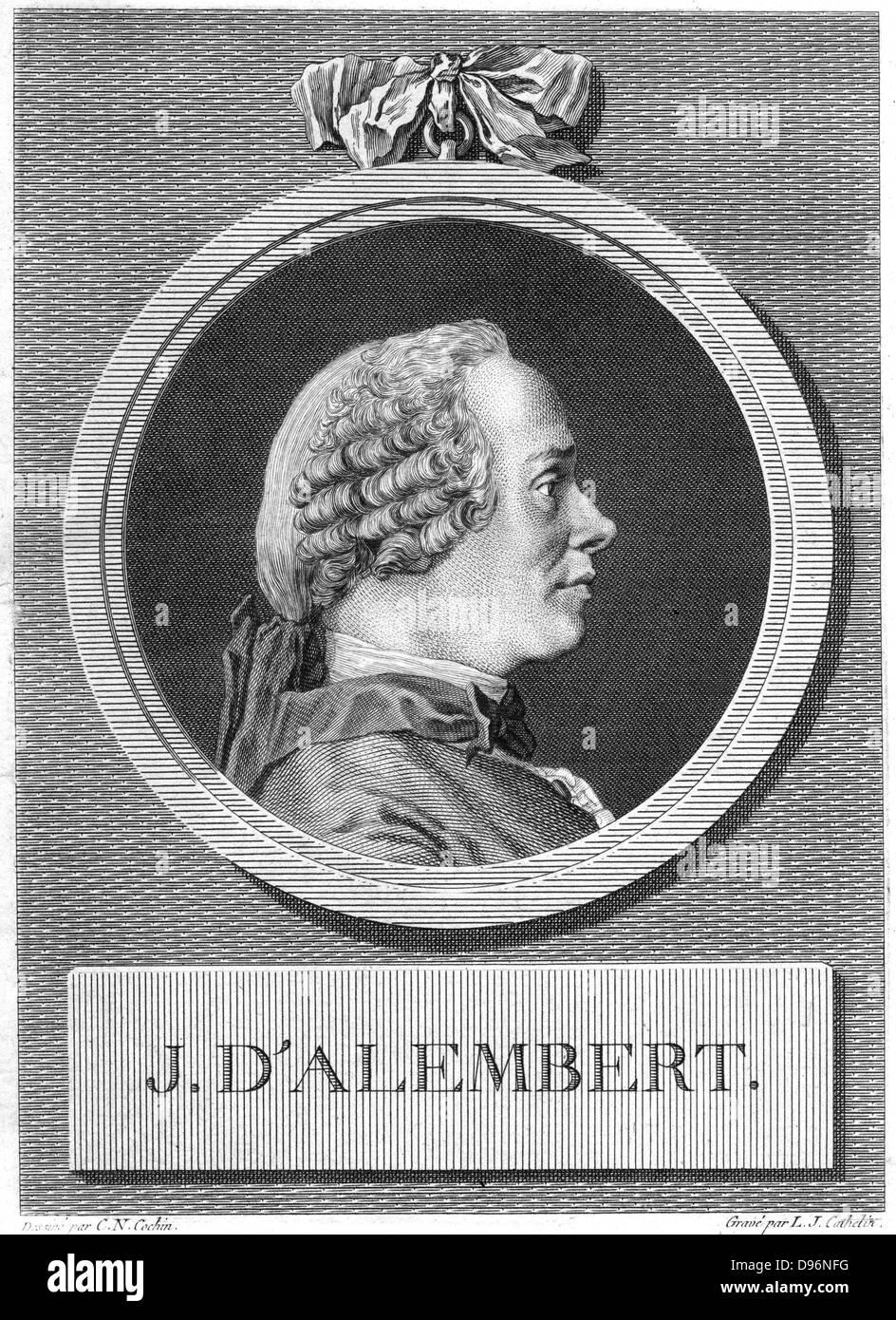 Jean Le Rond D'Alembert (1717-1783) philosophe, mathématicien et encyclopédiste. [18e siècle]. Photo Stock