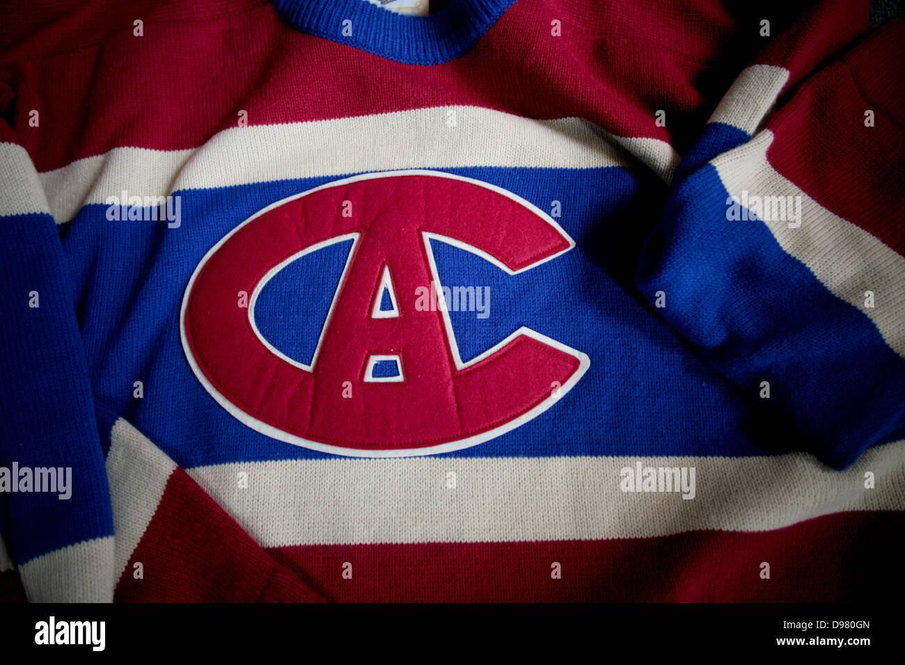 Un Chandail Des Canadiens De Montreal Vintage Jersey Photo Stock Alamy