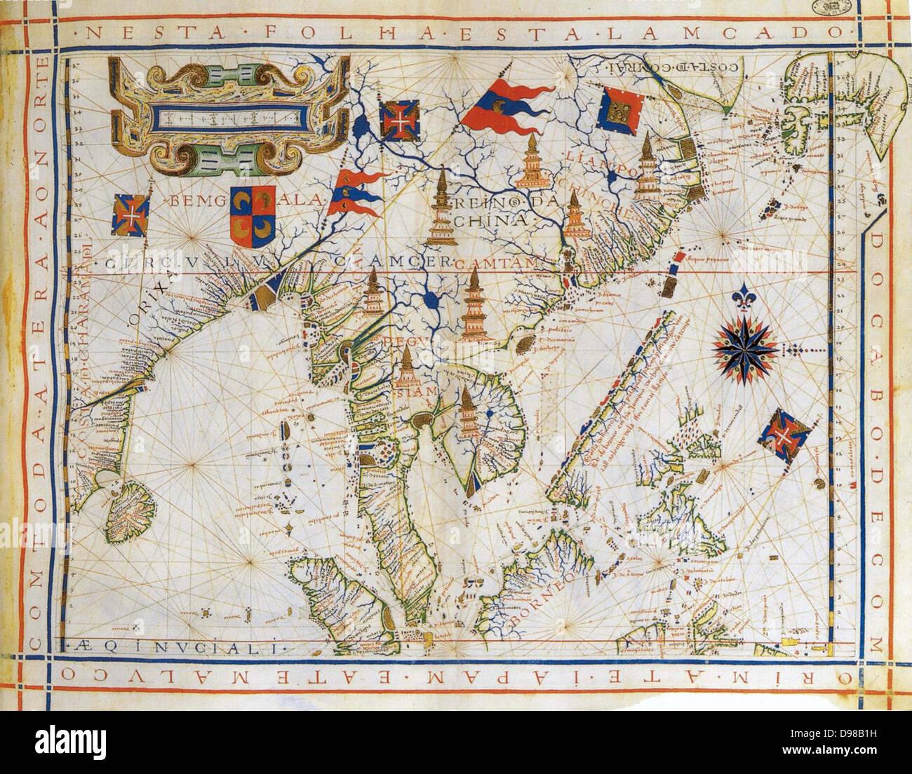 Carte De Linde De Lest.Avion Chart Pre Carte Mercator De 1571 Par Le Cartographe