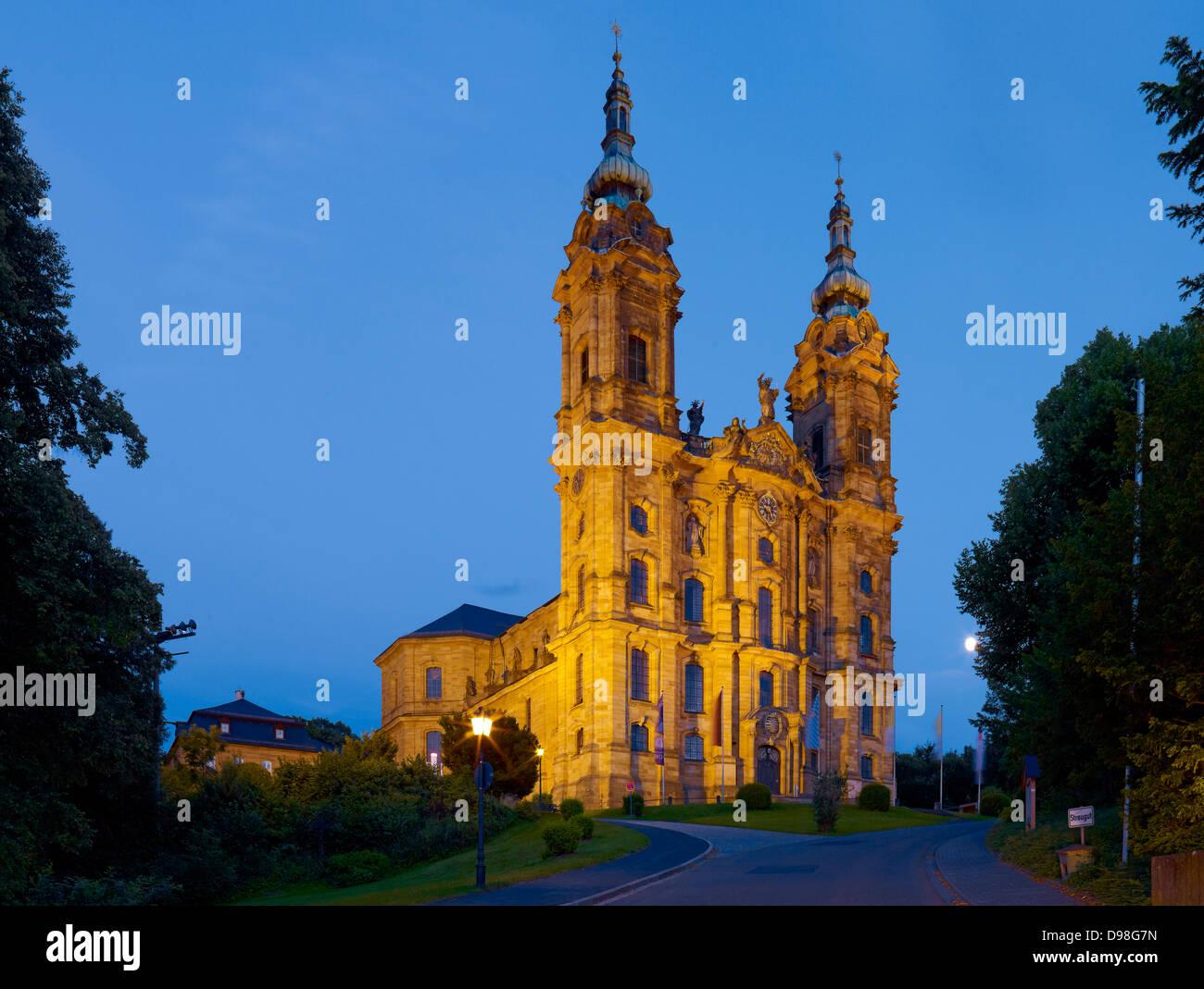 Basilique de la Sainte 14 Aides, Bad Staffelstein, Haute-Franconie, Bavière, Allemagne Photo Stock