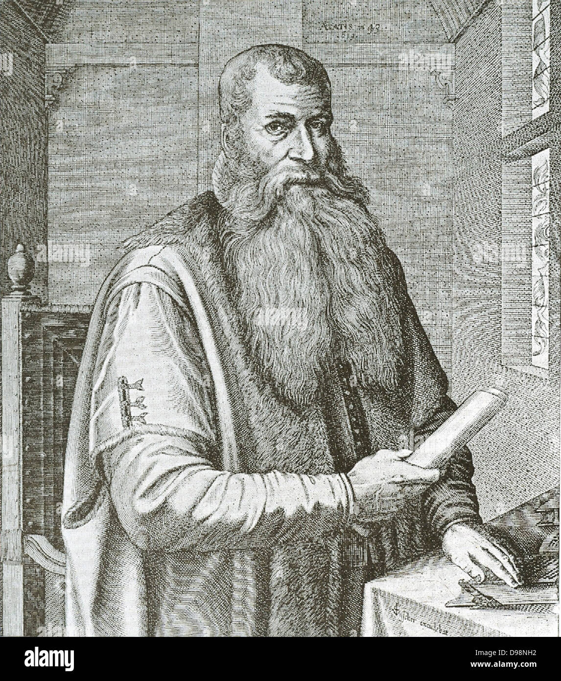 Johann(es) Bogerman (1576 - 11 septembre 1637) était un protestant frison divin. Il est né à Uplewert Photo Stock