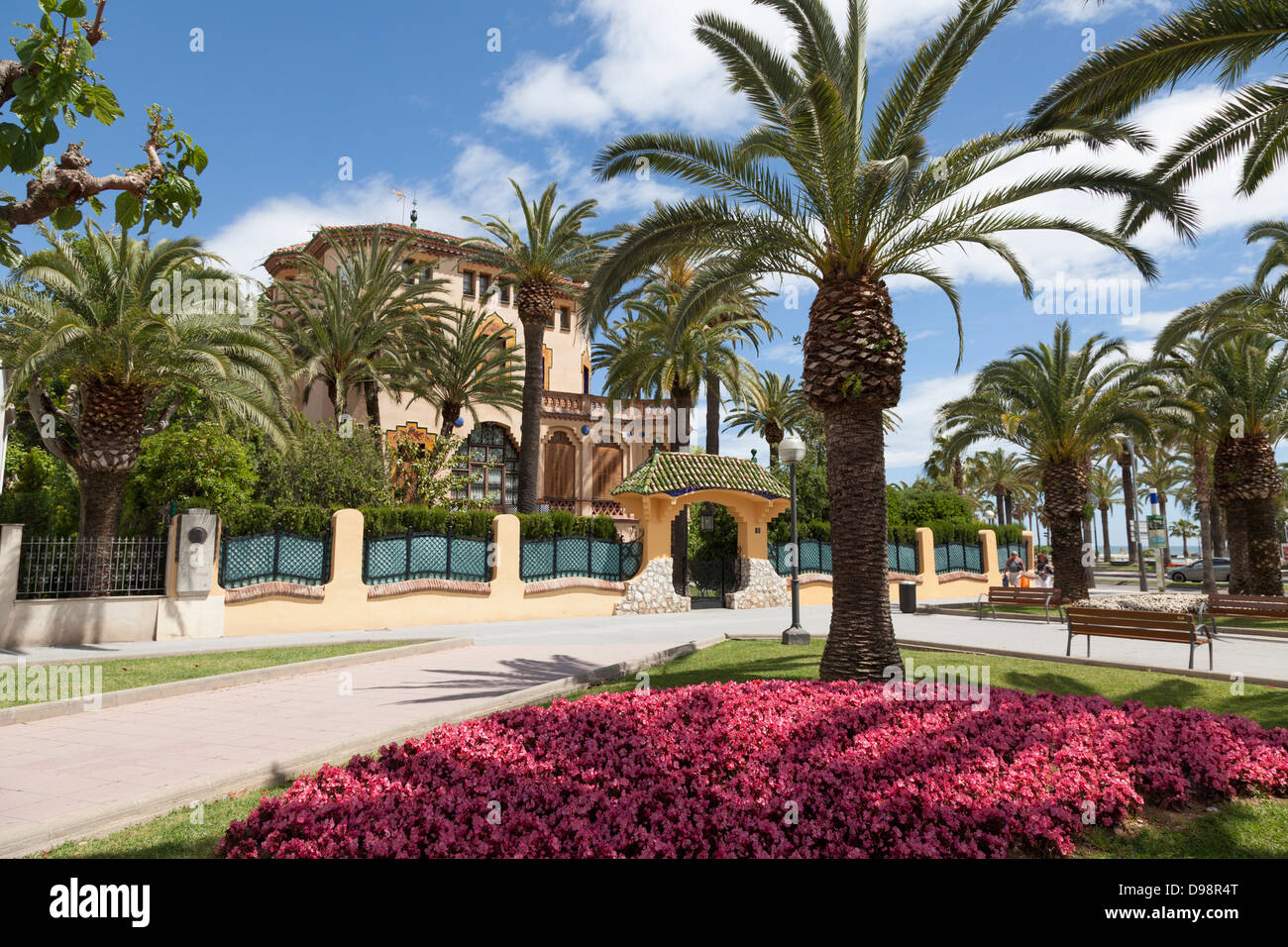 Xalet Bonet la fin de l'architecture moderniste à Salou Espagne construit par Ciriac Bonet. Photo Stock