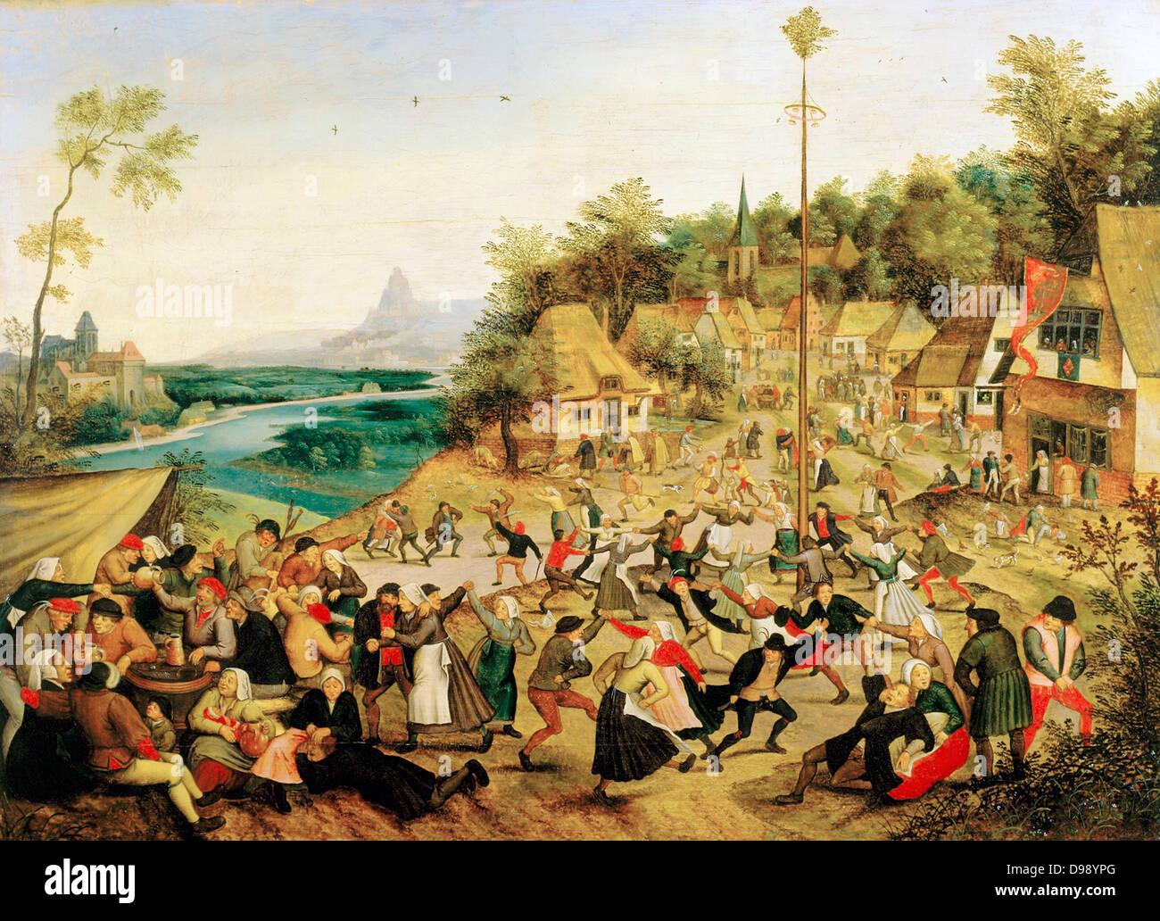 La Fete Du Village Pieter Breughel Le Jeune C1564 1638 Peintre Flamand De La Renaissance Du Nord Photo Stock Alamy