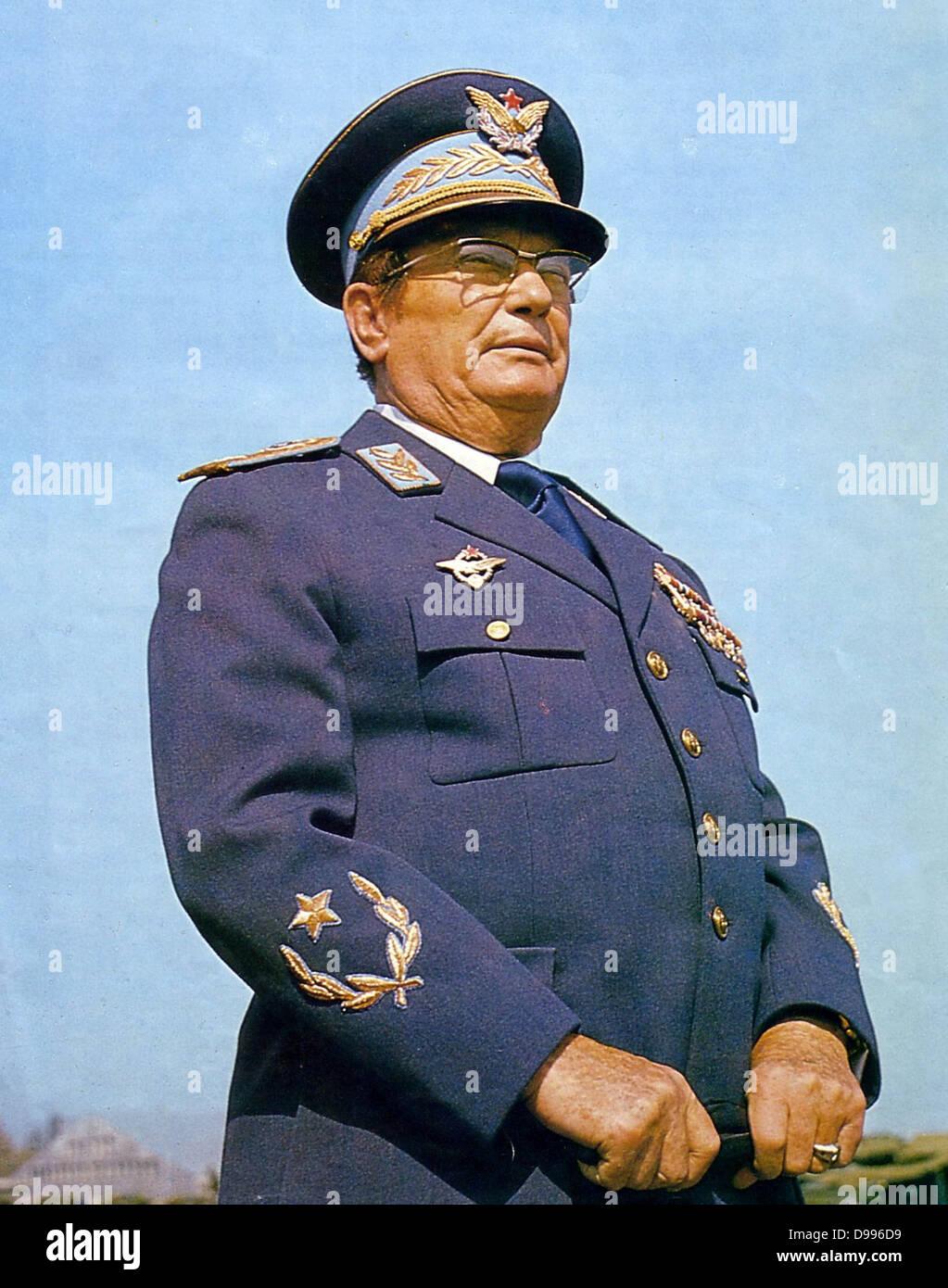 Josip Broz Tito (1892 - 1980), révolutionnaire et homme d'État yougoslave. Secrétaire général Photo Stock