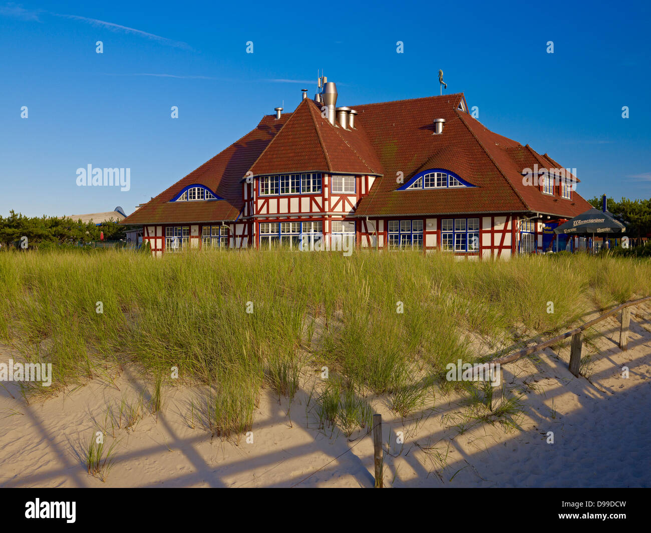 Ancien Kurhaus, Zingst Fischland-Darss-Zingst, Mecklembourg-Poméranie-Occidentale, Allemagne Banque D'Images