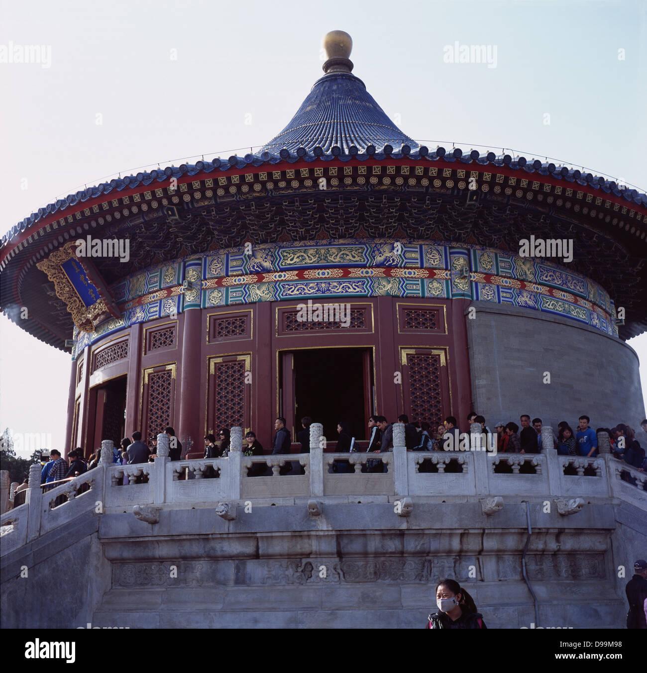 Hall de la voûte céleste impériale - Huangqiongyu, dans le Temple du Ciel. Beijing, Chine. 2013 Photo Stock
