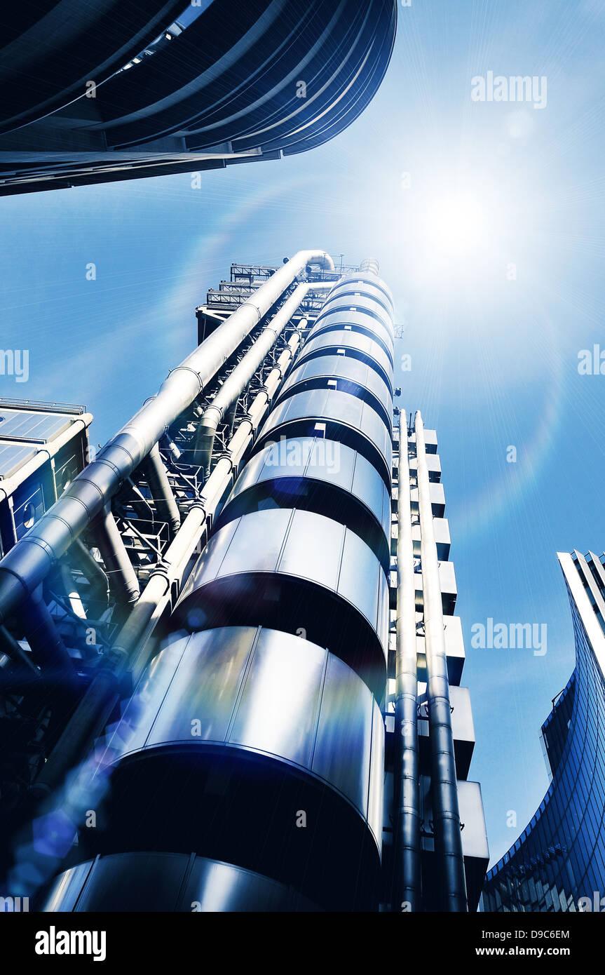 La lumière du soleil l'architecture moderne Photo Stock