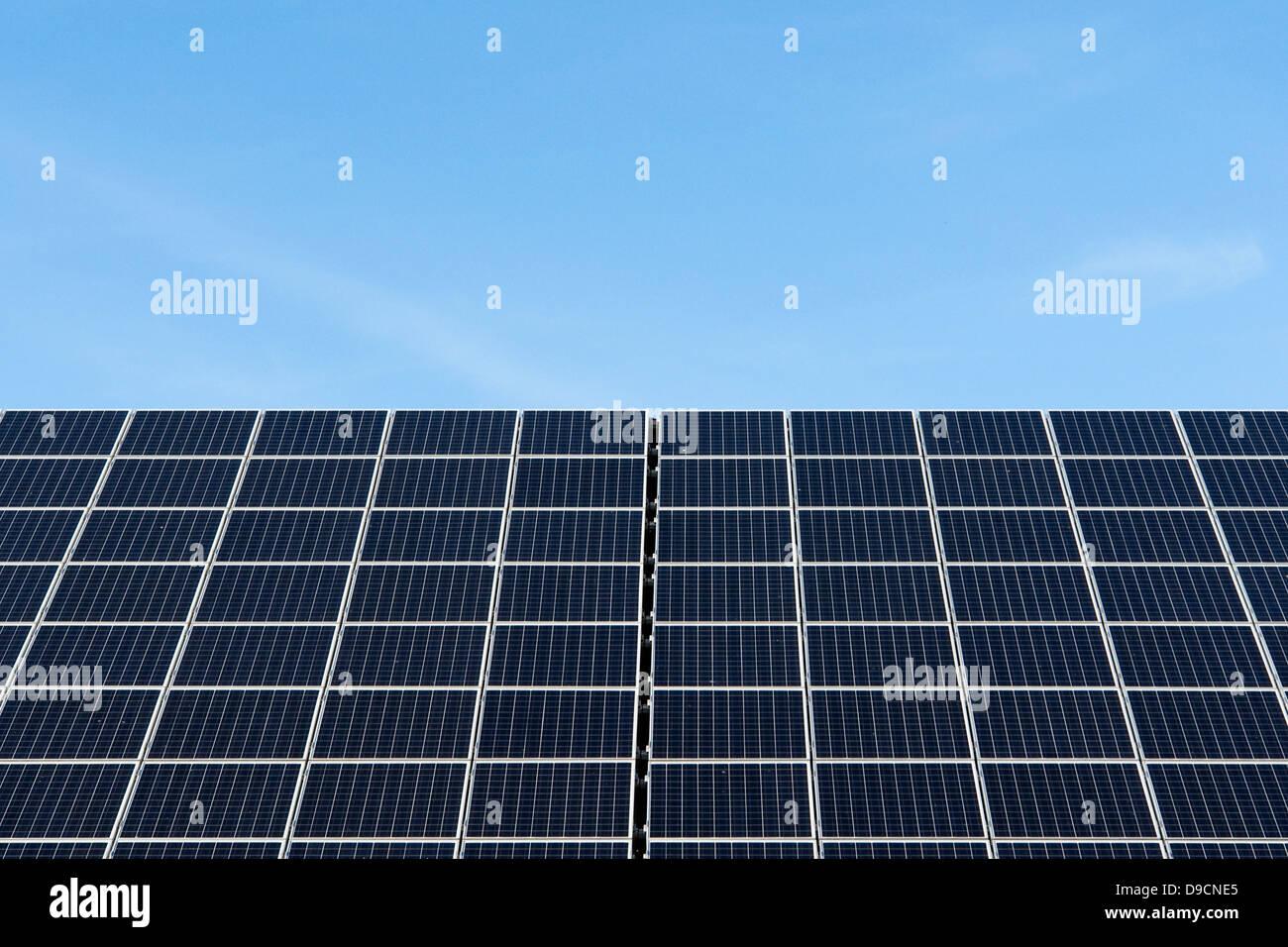 Les cellules solaires, cellules solaires, Photo Stock
