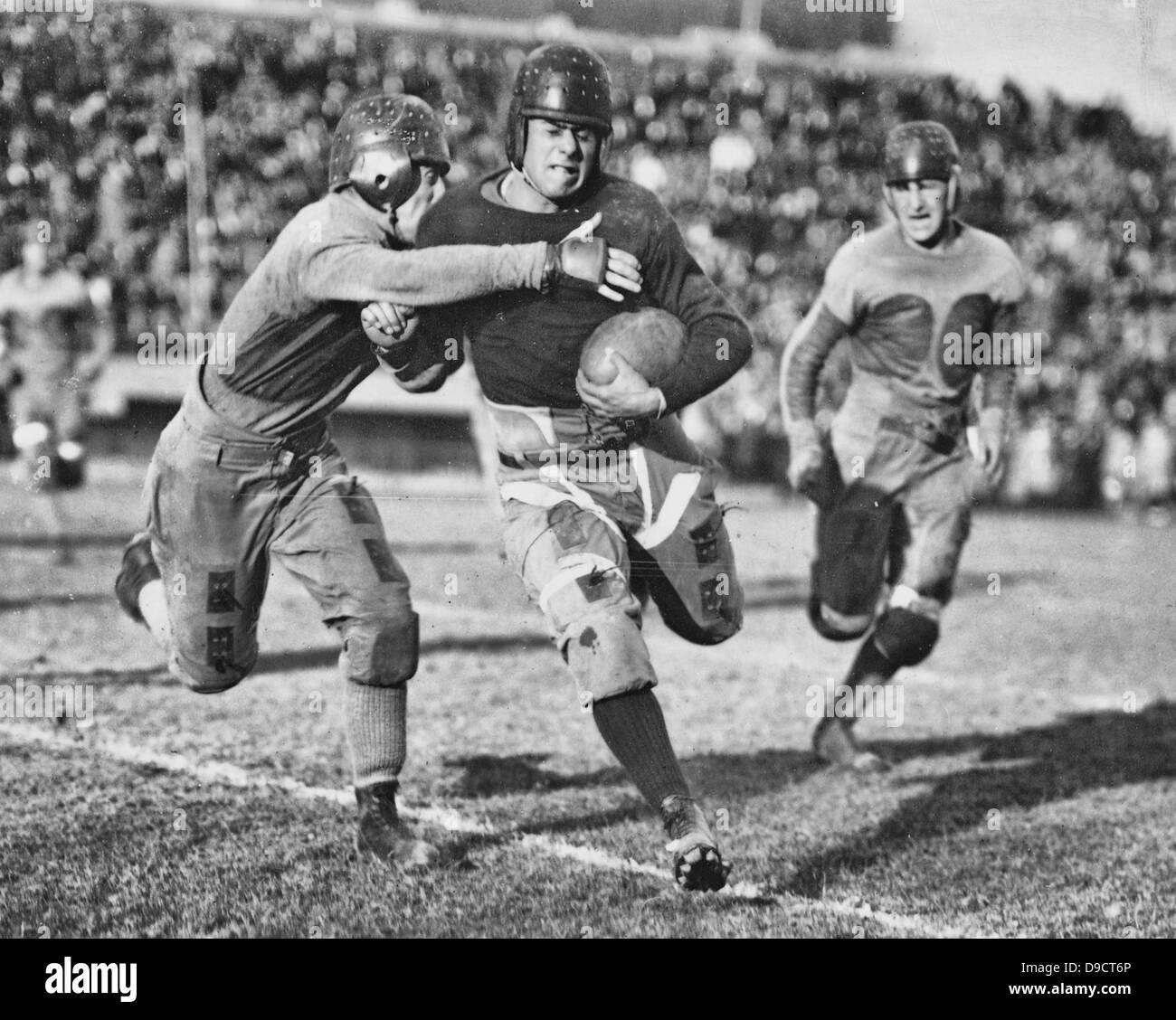 Match de football - Vintage football américain, vers 1925 Photo Stock