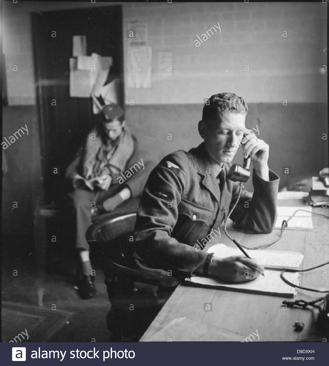 Les Américains en Grande-Bretagne- le travail de No 121 (EAGLE) Squadron RAF, Rochford, Essex, août 1942 Photo Stock