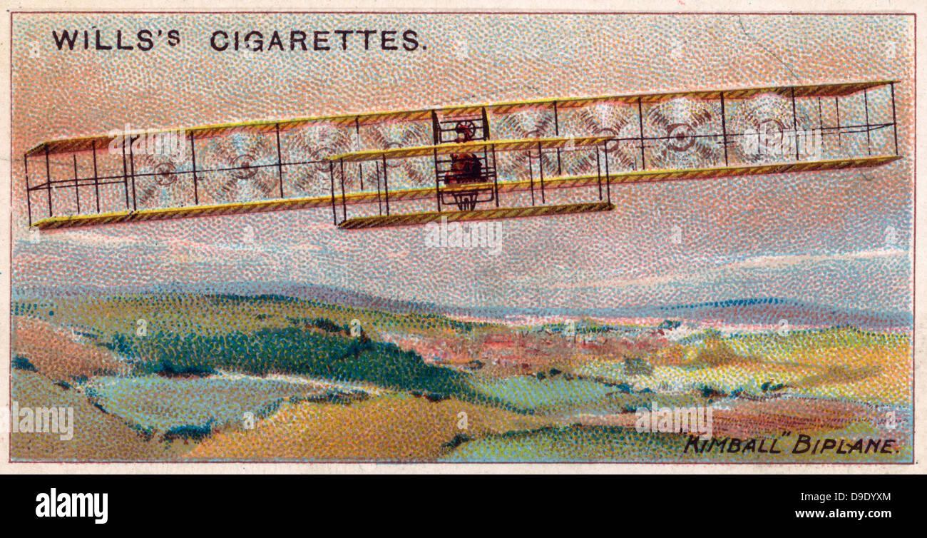 Aviation, 1910: 'biplan américain Kimball', 1909. Banque D'Images